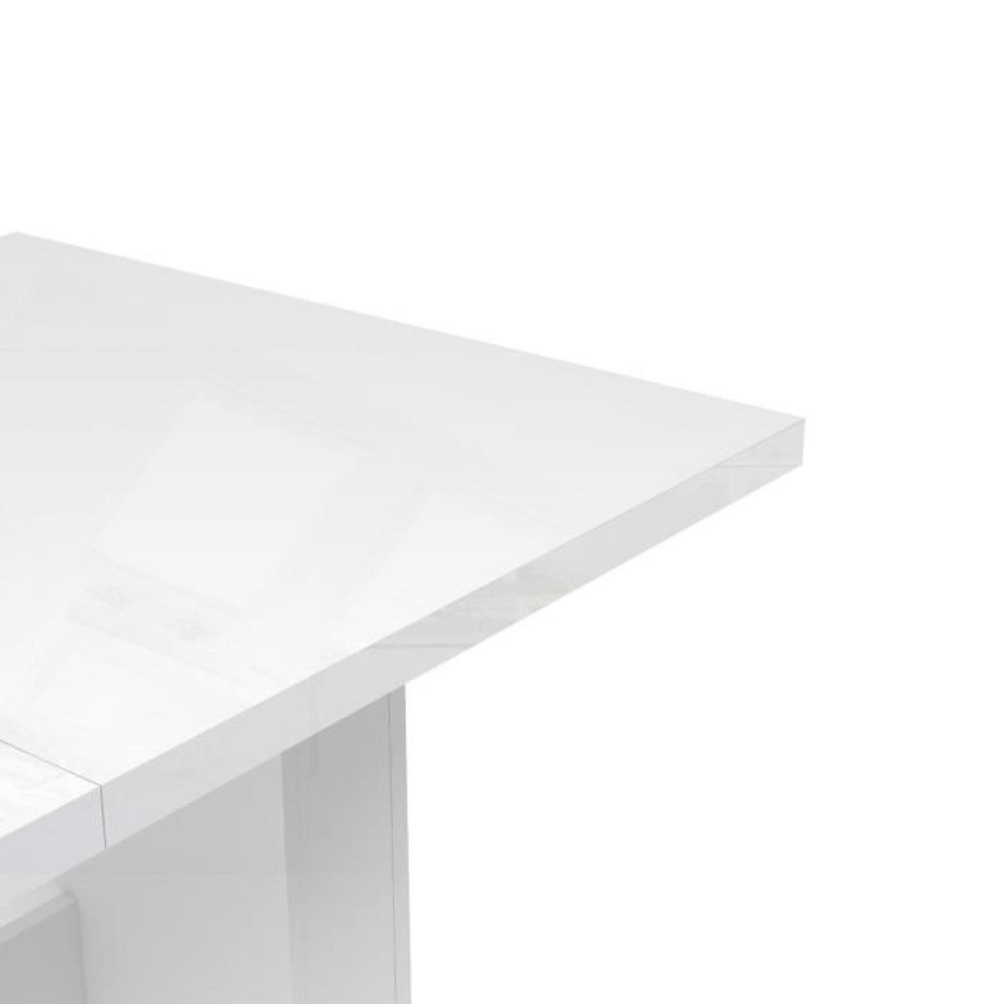FINLANDEK Table à manger extensible KOVA 140 273x75cm blanc brillant Achat Vente table salle a