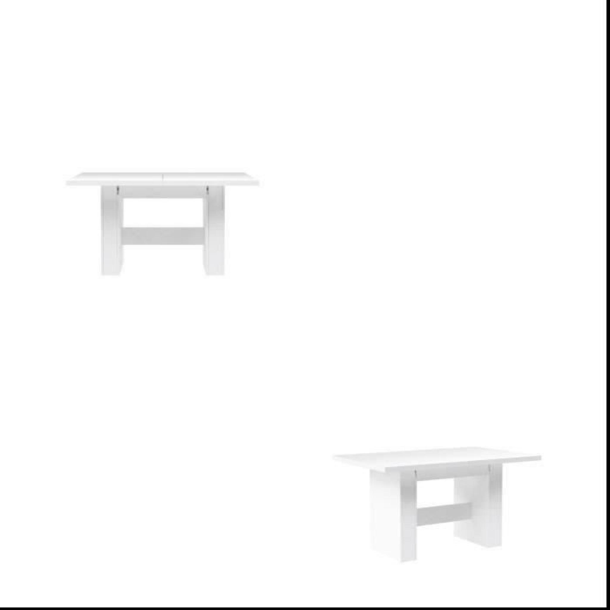 Finlandek Table à Manger Extensible Kova 140 273x75cm Blanc Brillant