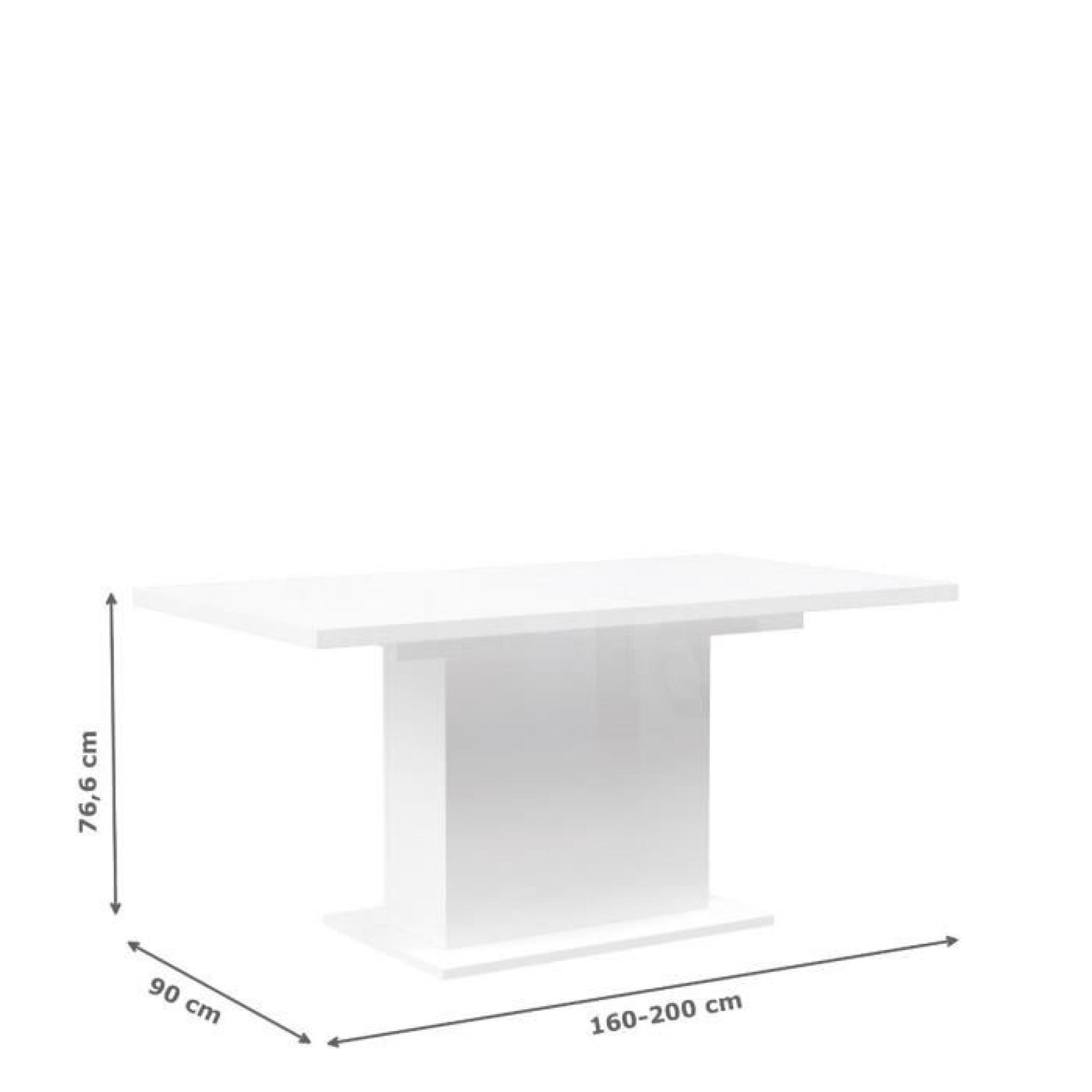 FINLANDEK Table à manger extensible KOVA 160-200x77 cm blanc ...