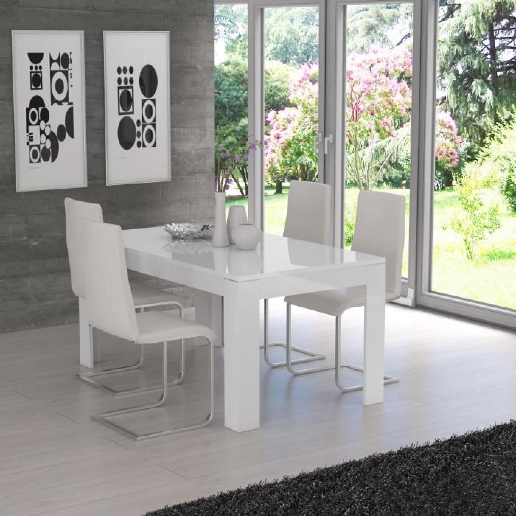 Table à extensible 207x75cm manger 160 FINLANDEK blanc KOVA mat txrCQBshdo