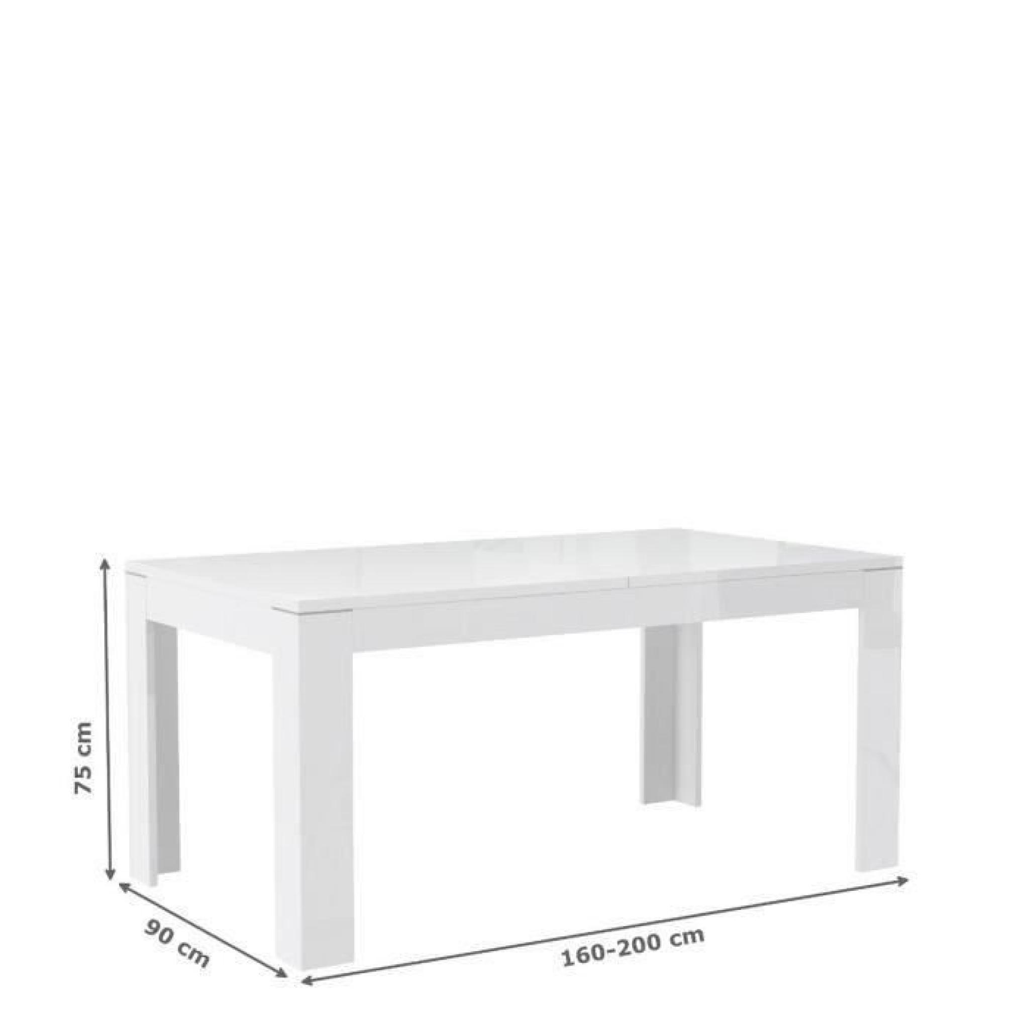 Finlandek Manger 160 207x75cm Table Extensible Mat Blanc À Kova YDH9EIW2