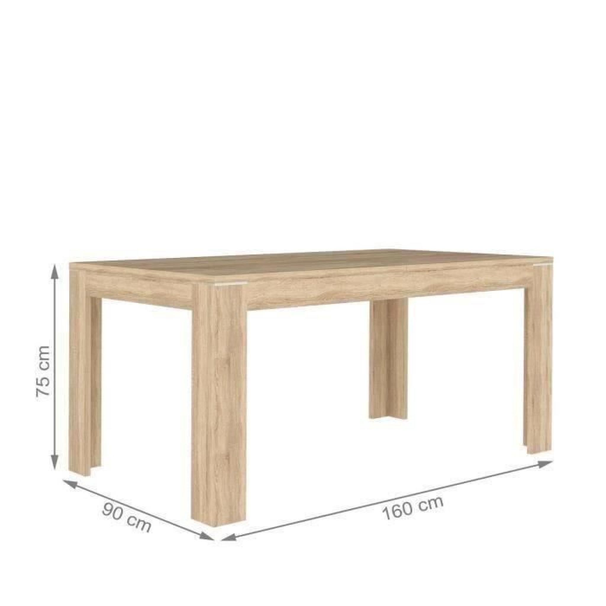 Finlandek table manger extensible nuori 160 207x90cm for Table a manger et buffet