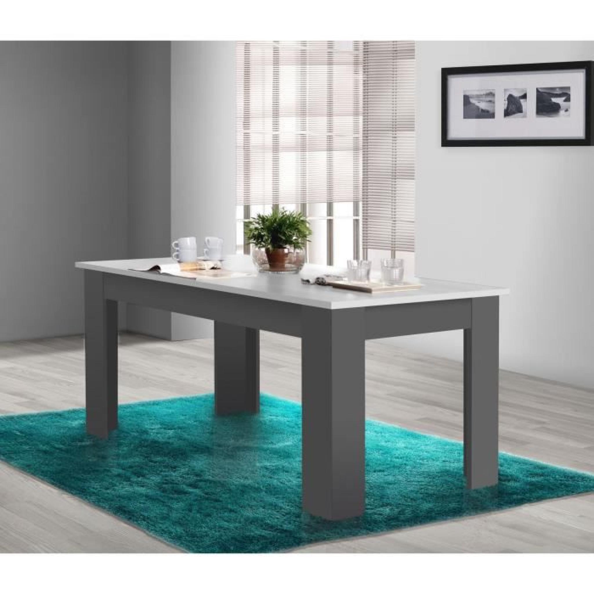 FINLANDEK Table à manger PILVI 160x90cm blanc et gris - Achat/Vente ...