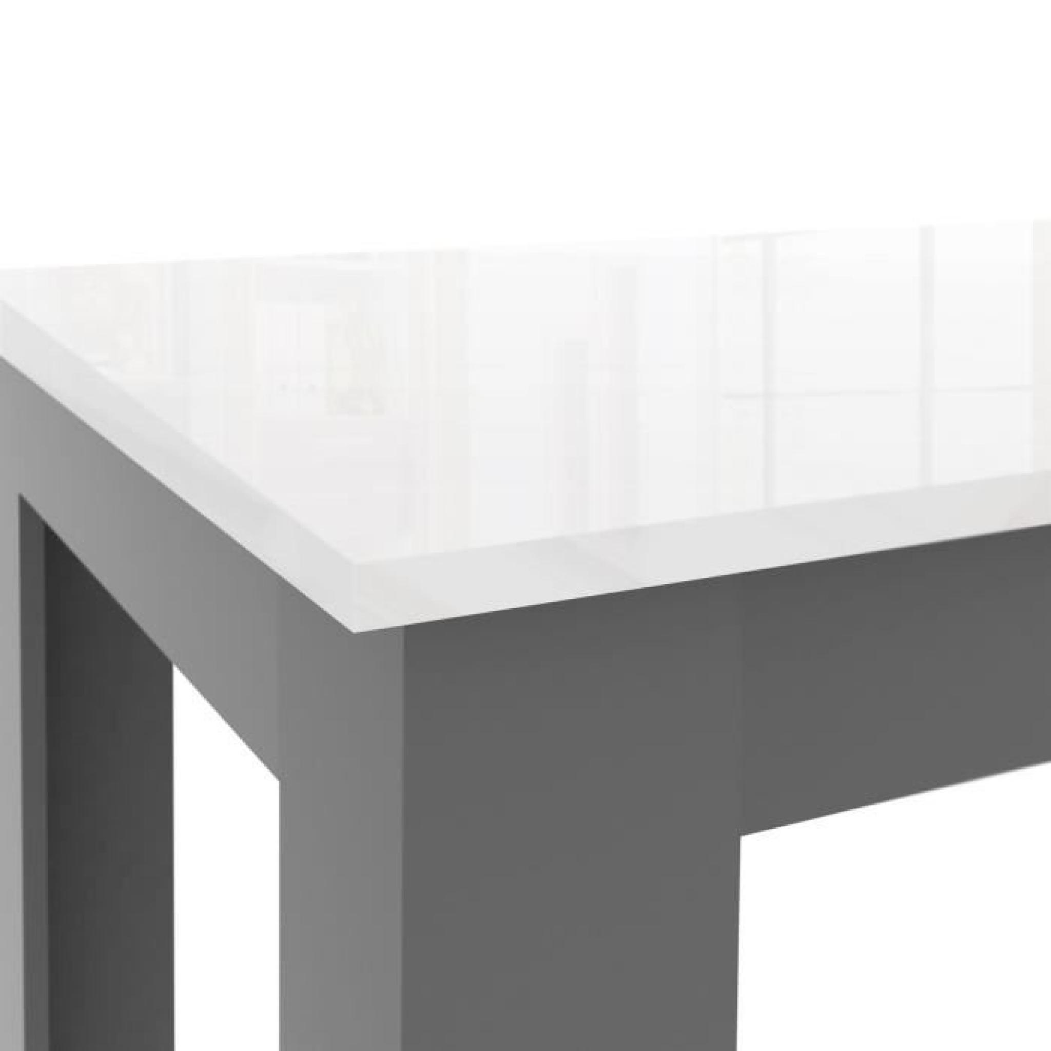FINLANDEK Table à manger PILVI 160x90cm blanc et gris