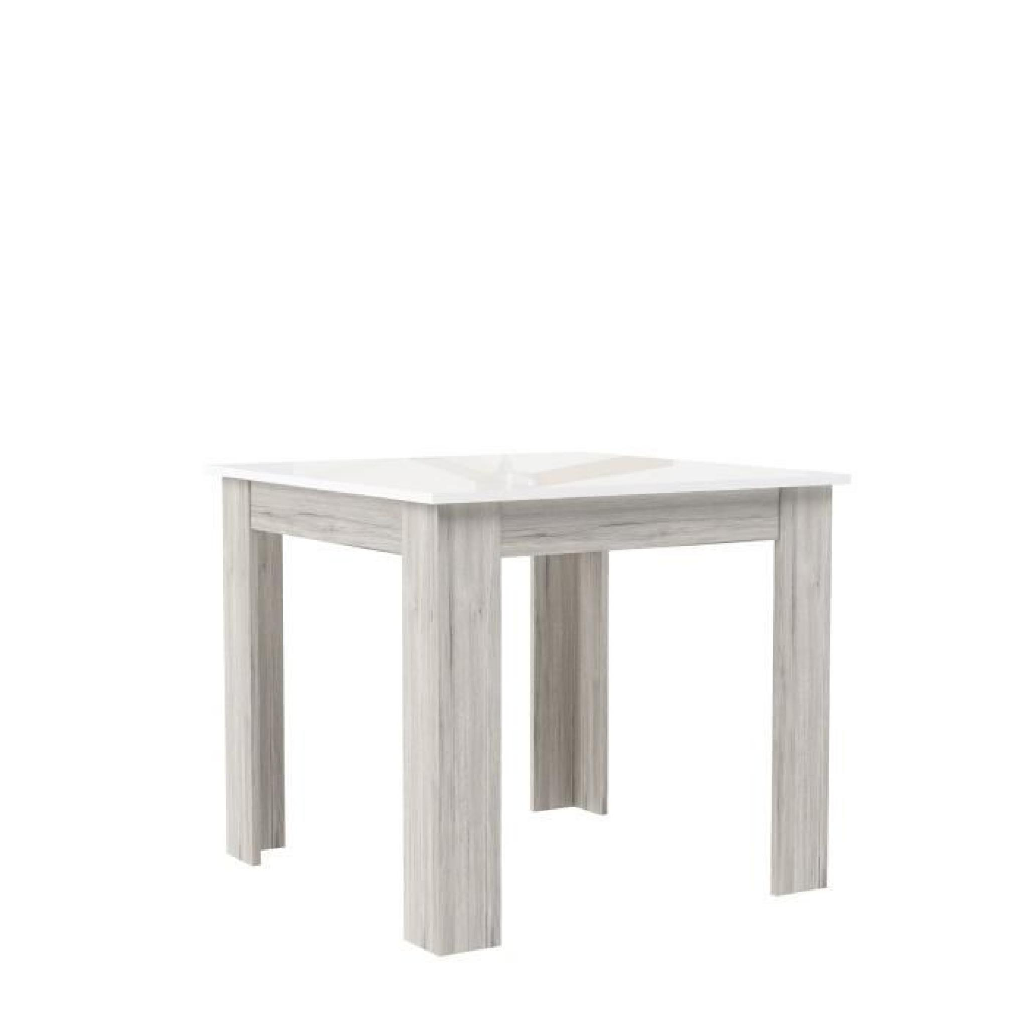 Finlandek table de bar tietti 110x110cm laqu blanc for Table a manger laque blanc pas cher