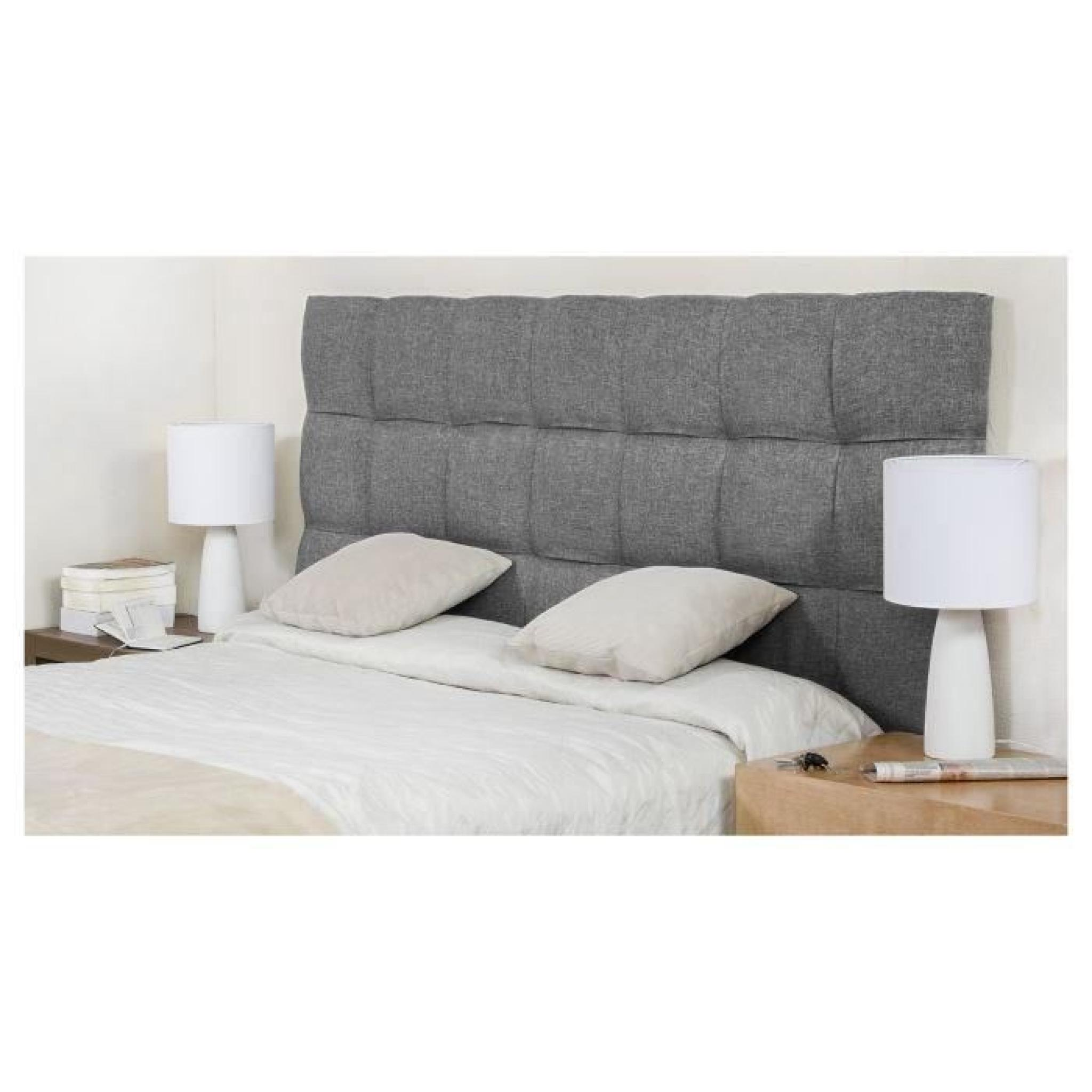 finlandek t te de lit kyn adulte 160cm gris clair achat vente tete de lit pas cher couleur. Black Bedroom Furniture Sets. Home Design Ideas