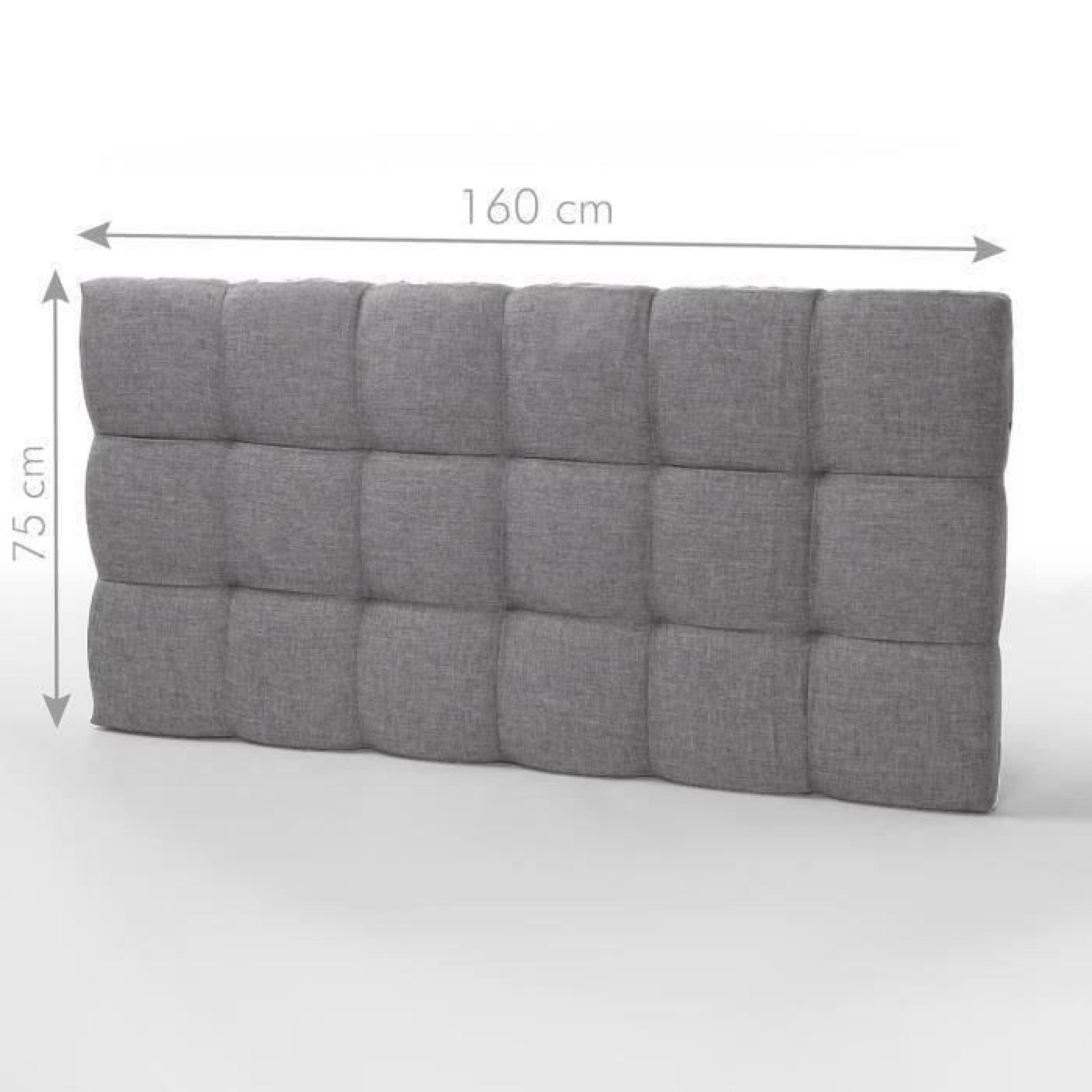 tete de lit gris pas cher. Black Bedroom Furniture Sets. Home Design Ideas