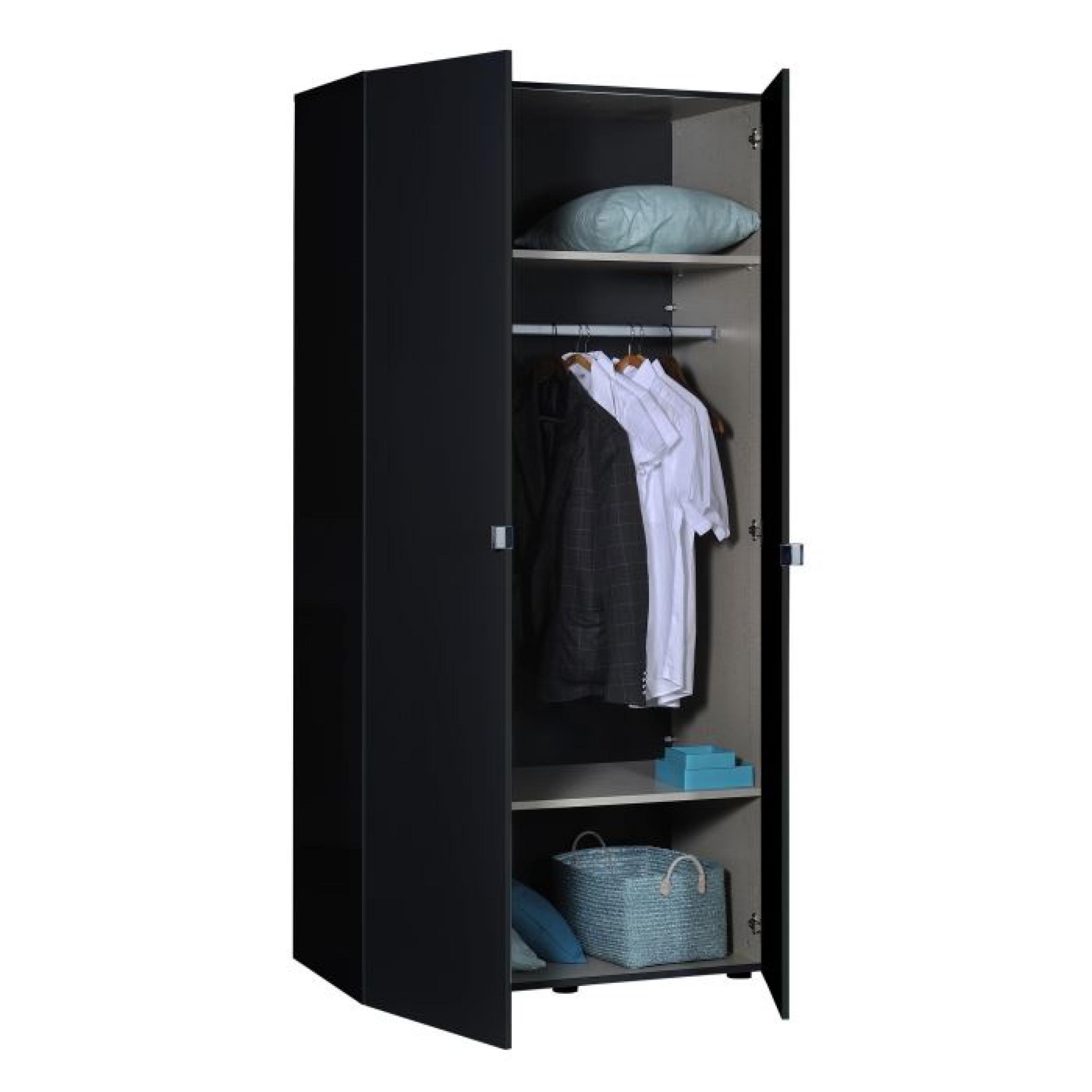 first armoire 2 portes laquée noire  achatvente armoire