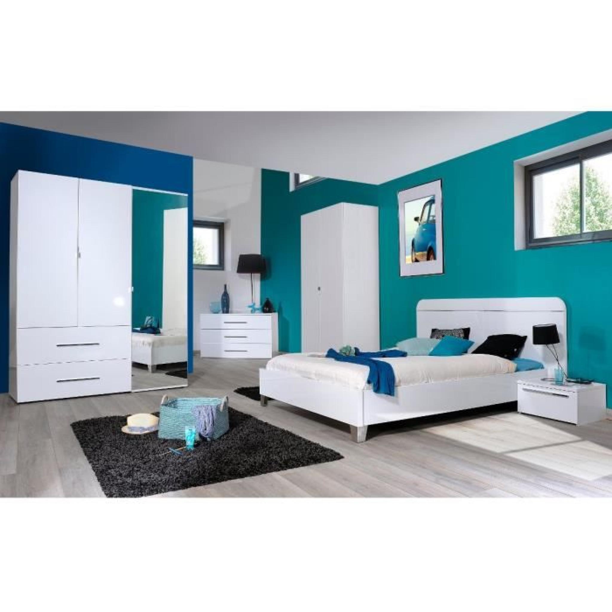 FIRST Armoire de chambre 160x208x54 cm laqué blanc - Achat ...