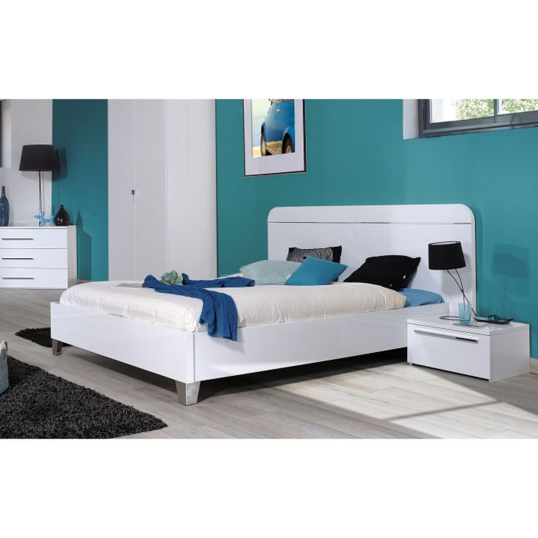 First Chambre Complete Adulte 140 Cm Laquee Blanc Achat Vente Chambre Complete Pas Cher Couleur Et Design Fr