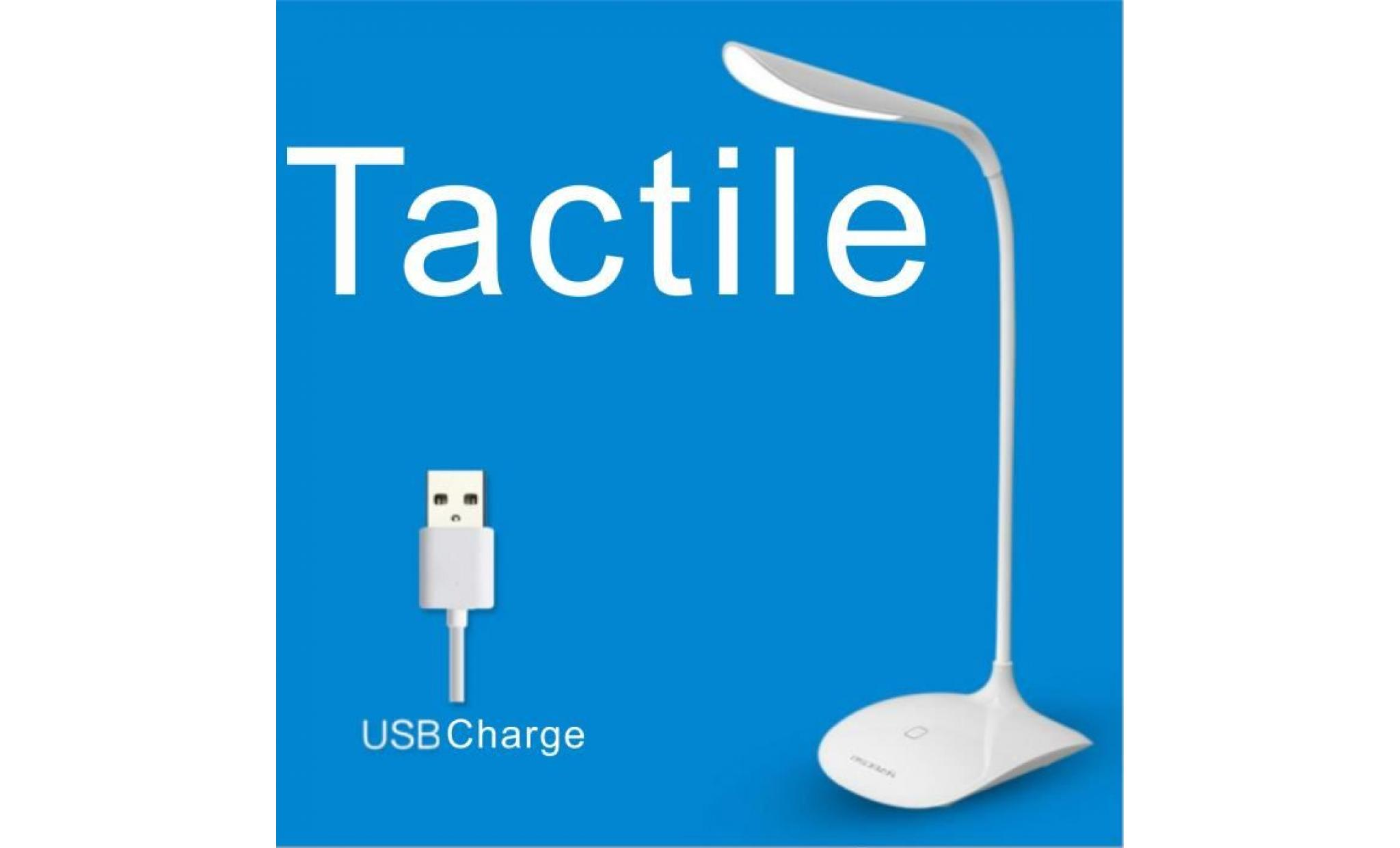 flexible r glable led lampe de table usb rechargeable lumi re de bureau 3 niveau capteur toucher. Black Bedroom Furniture Sets. Home Design Ideas