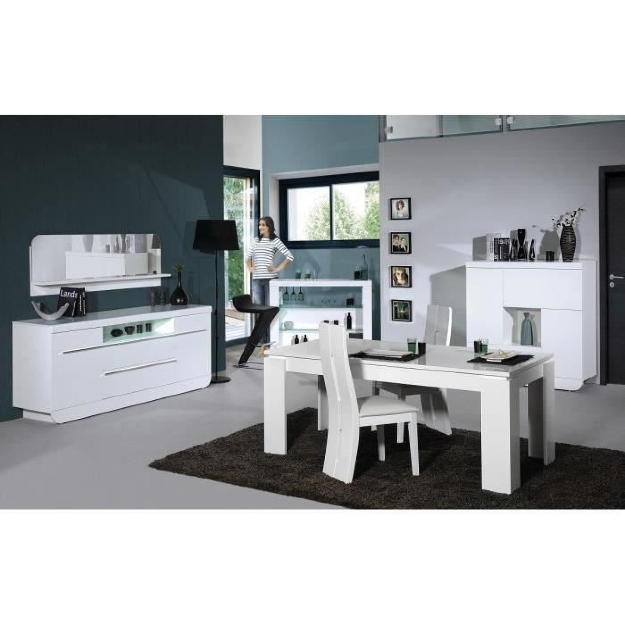 floyd ensemble table manger 4 chaises de salle manger laqu blanc achat vente table. Black Bedroom Furniture Sets. Home Design Ideas