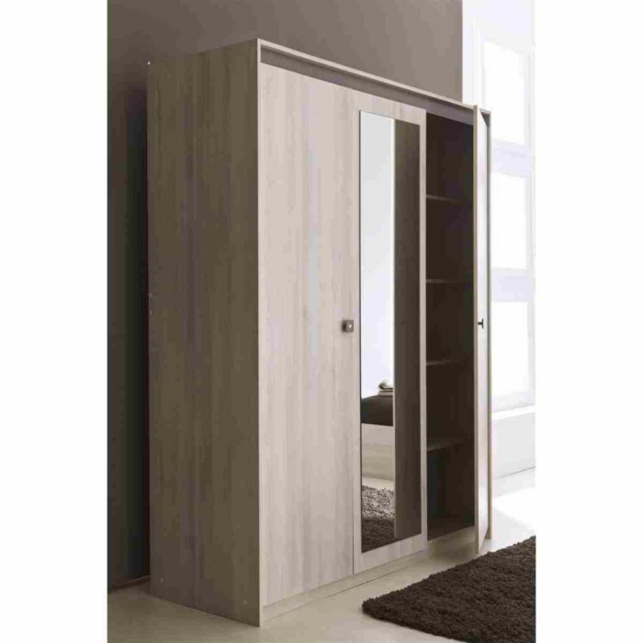 francesca armoire 3 portes miroir achat vente armoire de chambre pas cher couleur et. Black Bedroom Furniture Sets. Home Design Ideas