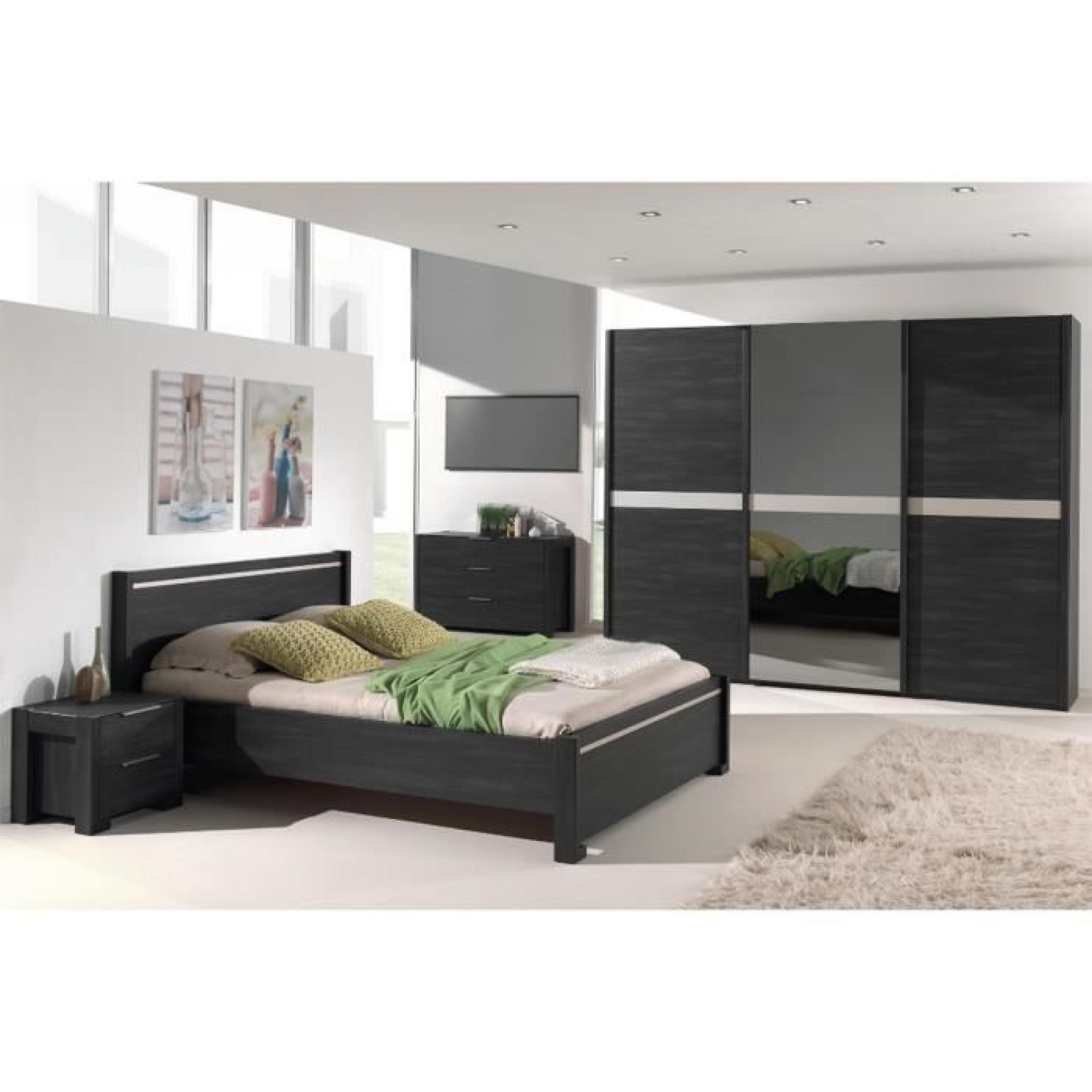 garde robe 250 cm portes coulissantes coloris ch ne. Black Bedroom Furniture Sets. Home Design Ideas