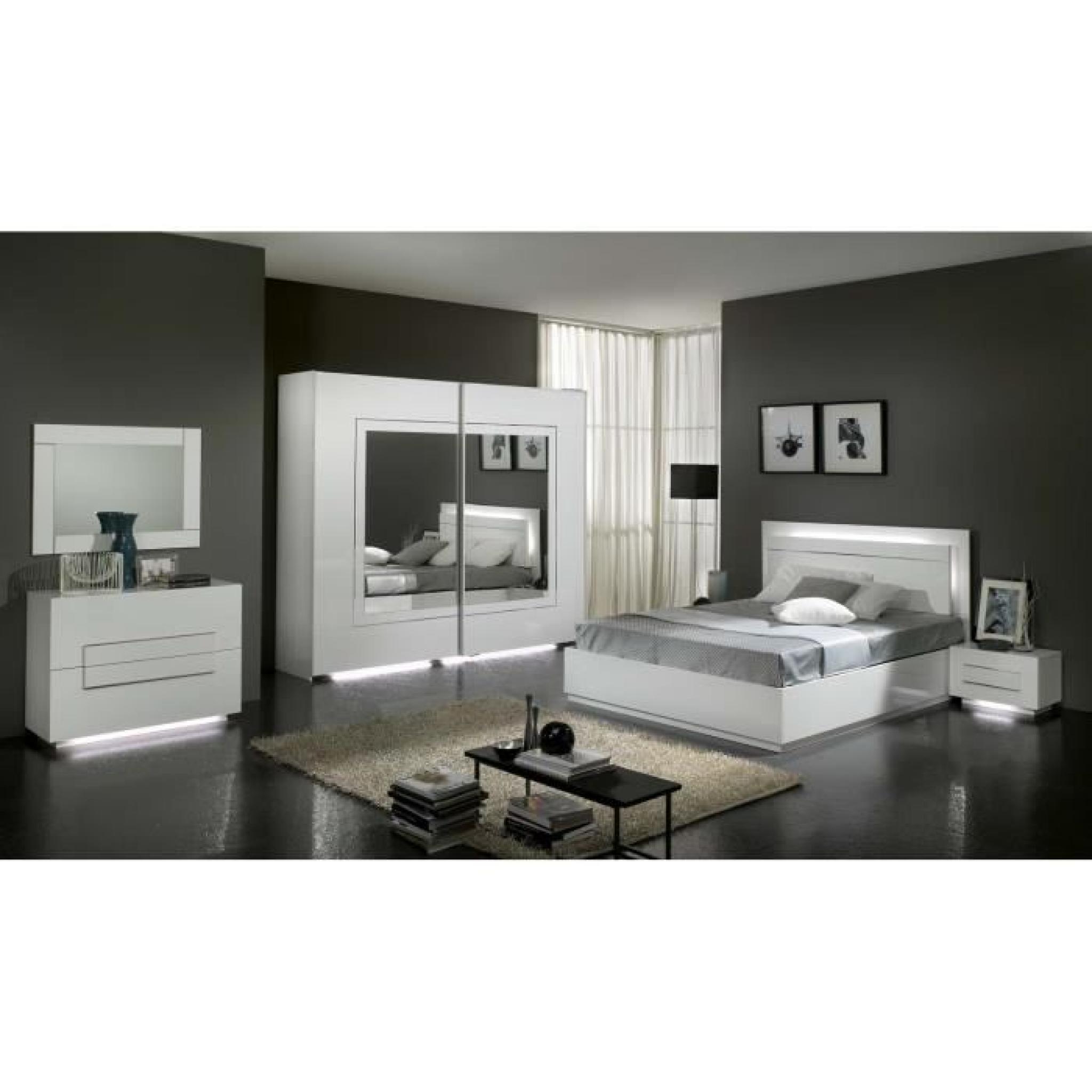 Garde-robe à 2 portes coulissantes blanc laqué - Achat/Vente armoire ...