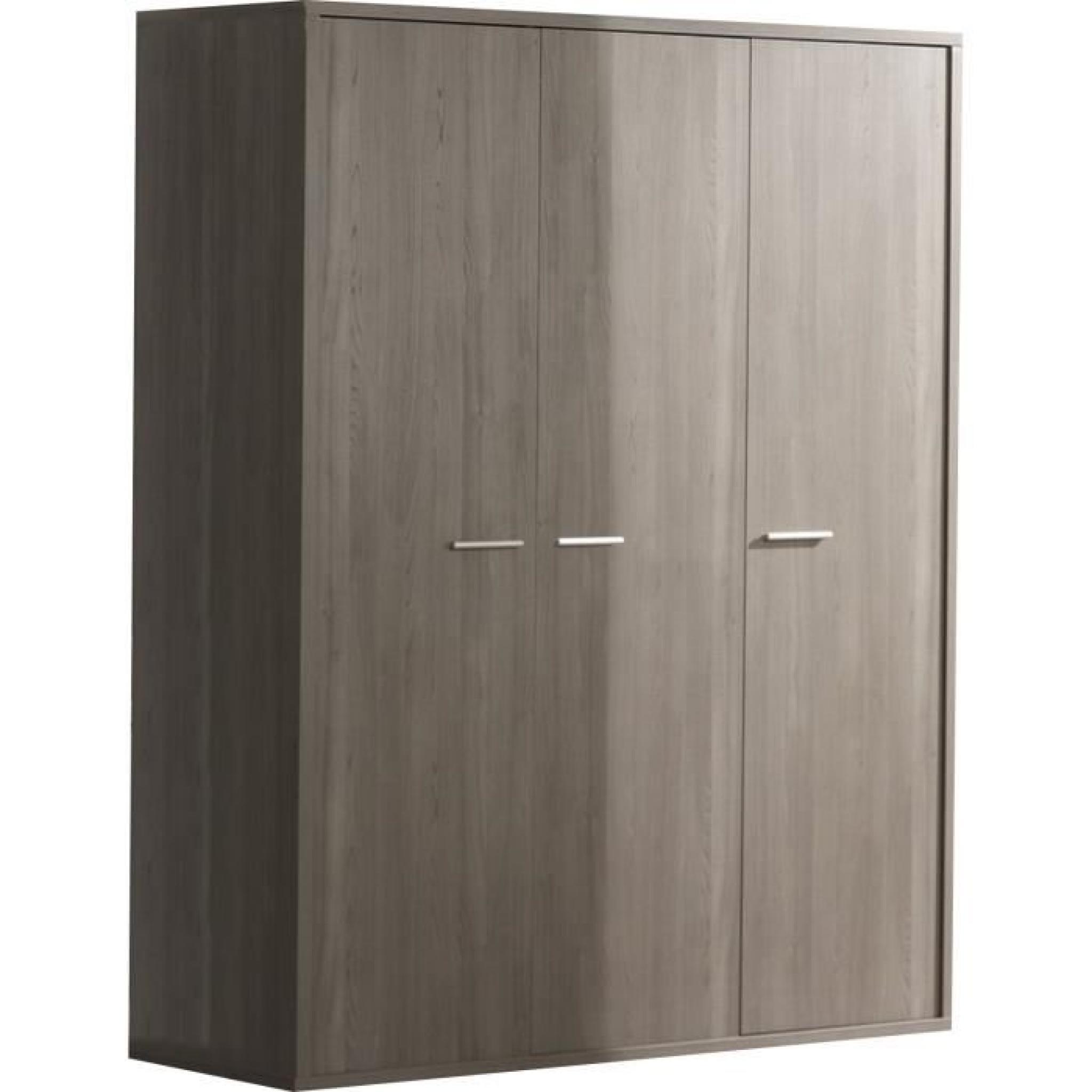 garde robe b b 3 portes design coloris bouleau gris achat vente armoire de chambre pas cher. Black Bedroom Furniture Sets. Home Design Ideas