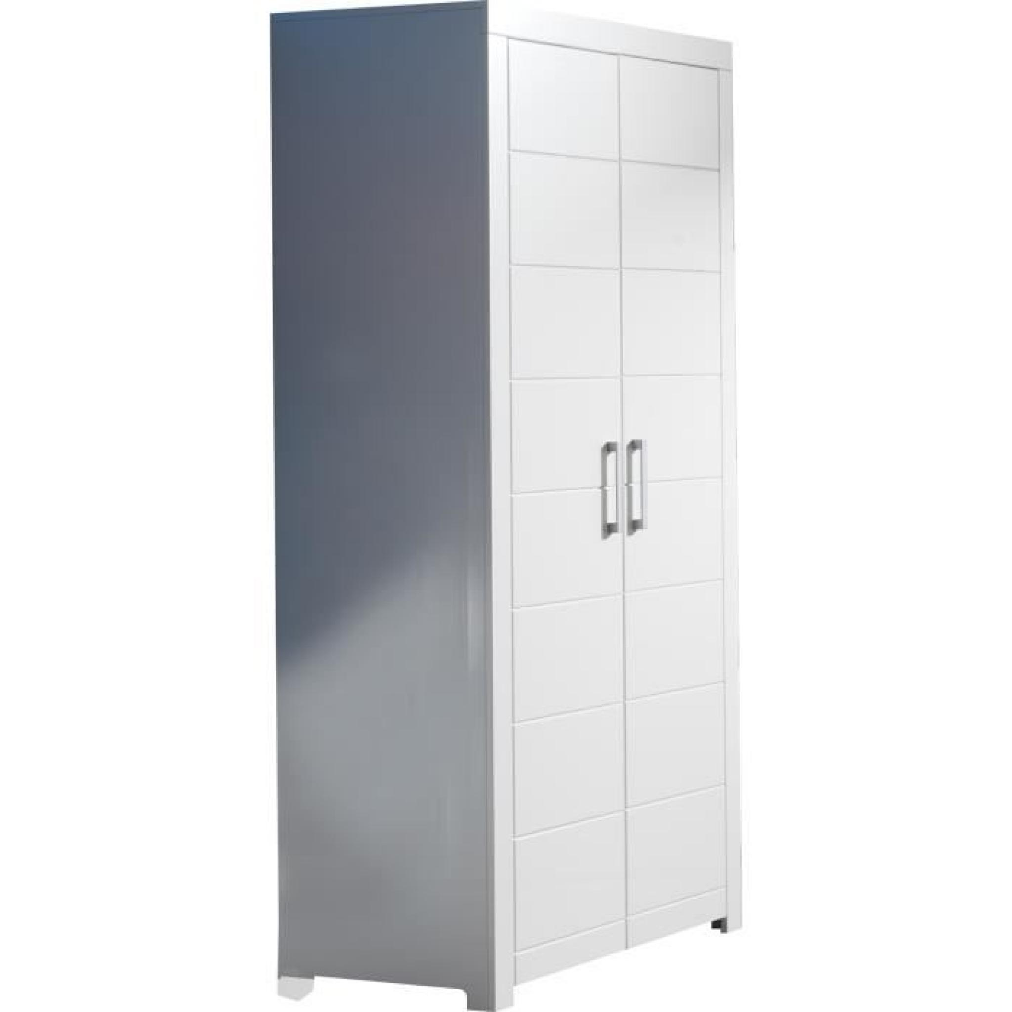 garde robe blanche 2 portes achat vente armoire de. Black Bedroom Furniture Sets. Home Design Ideas