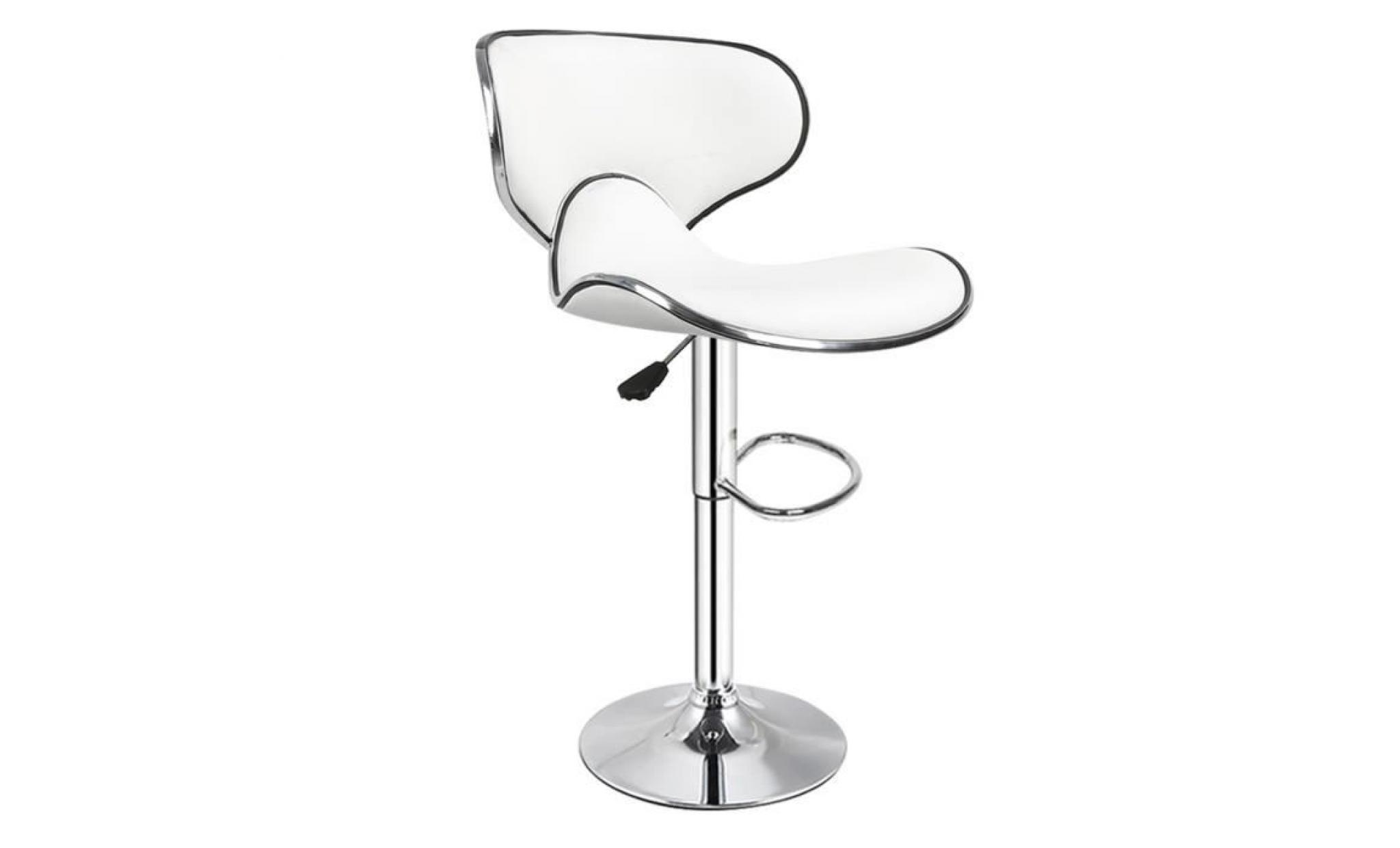 good perfect   lot de 2 tabouret de bar blanc