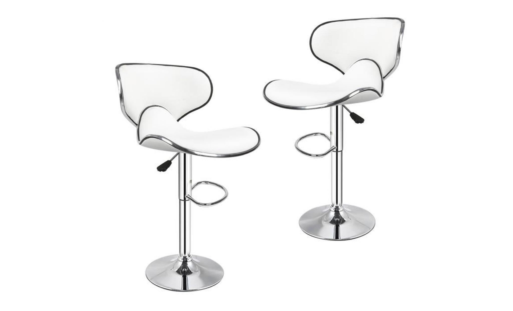 good perfect   lot de 2 tabouret de bar blanc pas cher