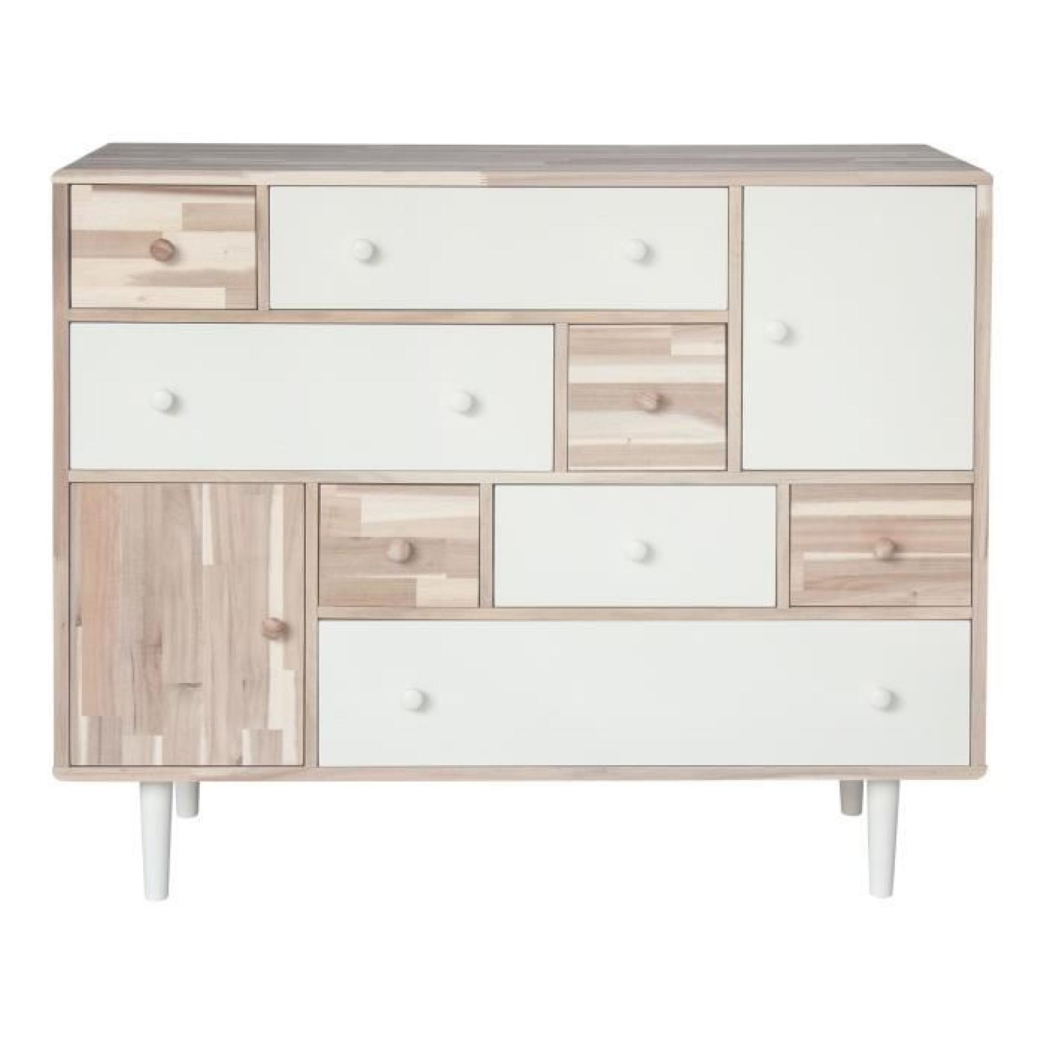 hoian grande commode 8 tiroirs 2 portes achat vente commode pas cher couleur et. Black Bedroom Furniture Sets. Home Design Ideas