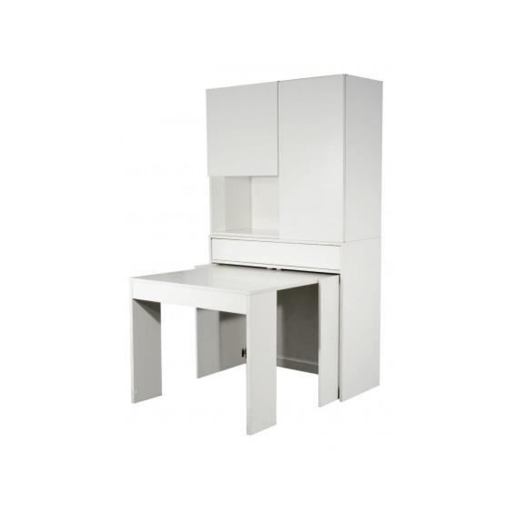 Meuble avec table integree 15 hop placard avec table for Meuble table integree