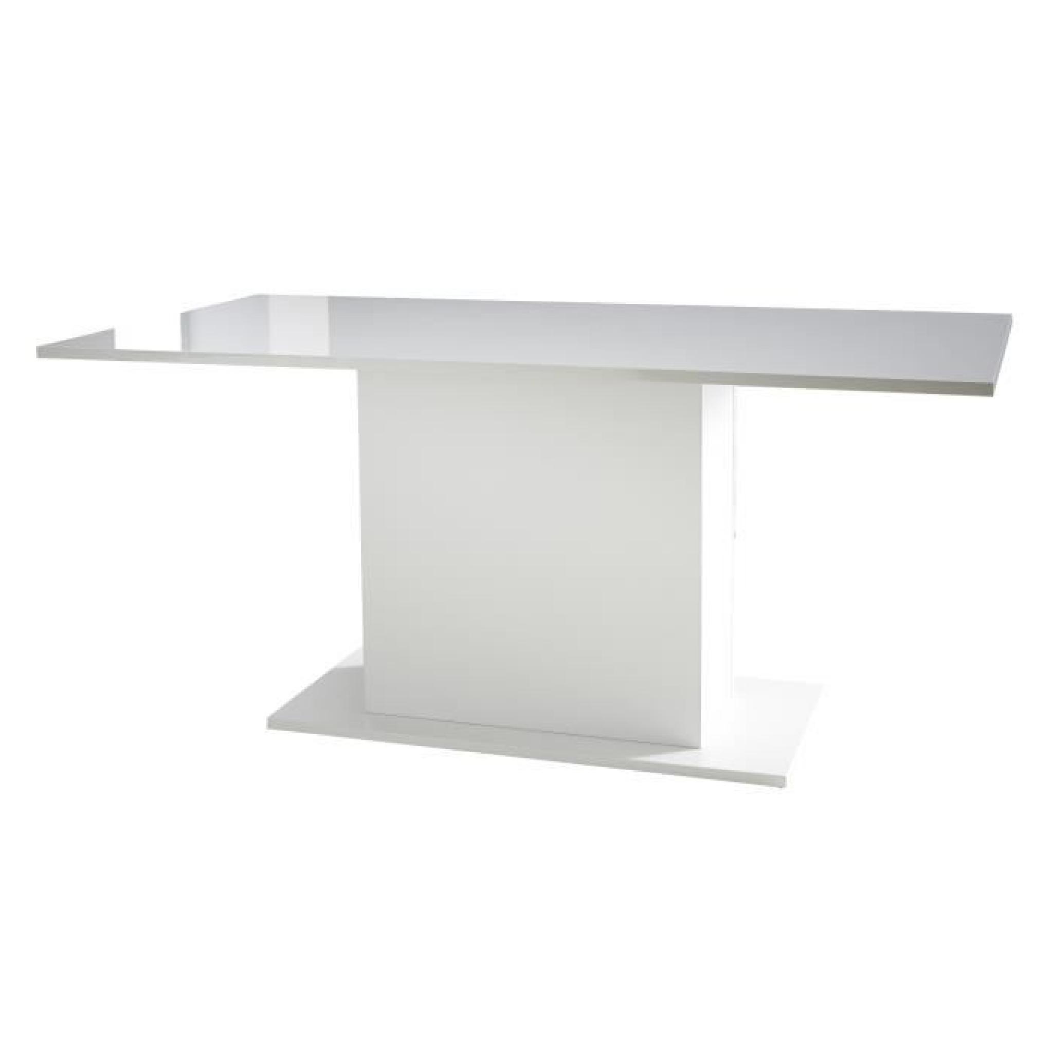 excellent icy table manger avec pied central cm blanc brillant pas cher with pied de table. Black Bedroom Furniture Sets. Home Design Ideas