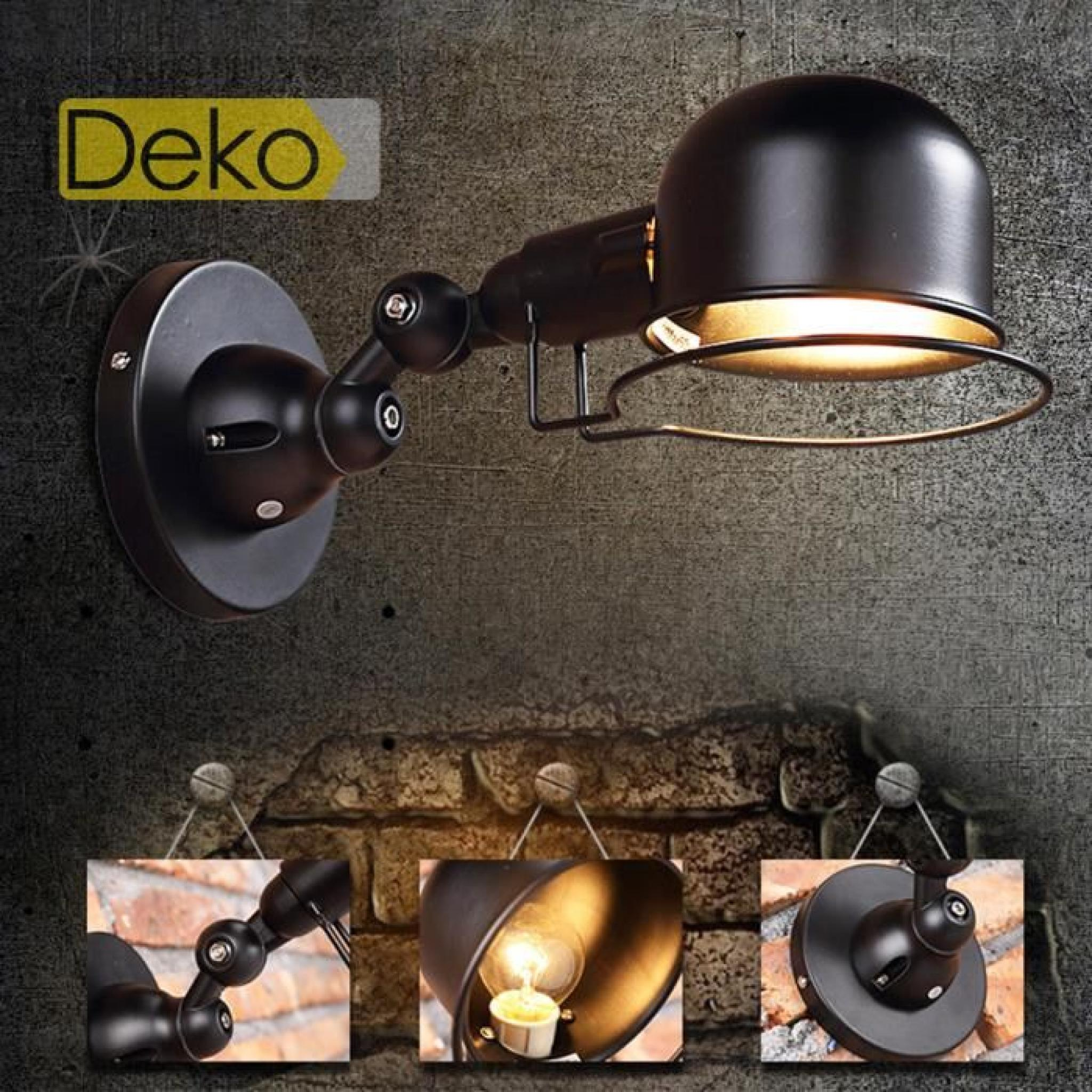 ideko lampe de salon art design antique unique industriel cam ra en fer bronz lampe projecteur. Black Bedroom Furniture Sets. Home Design Ideas