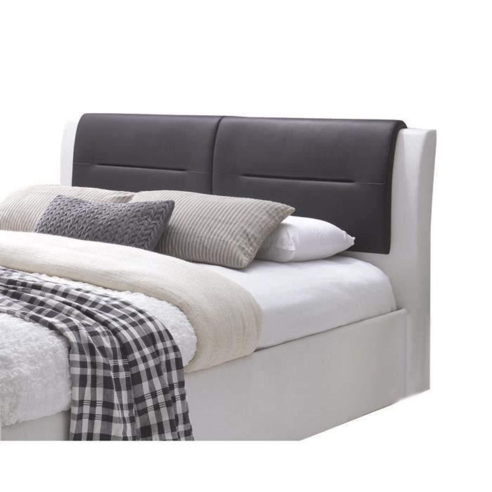 Imagina lit adulte en simili 160x200cm sommier inclus for Lit complet adulte pas cher