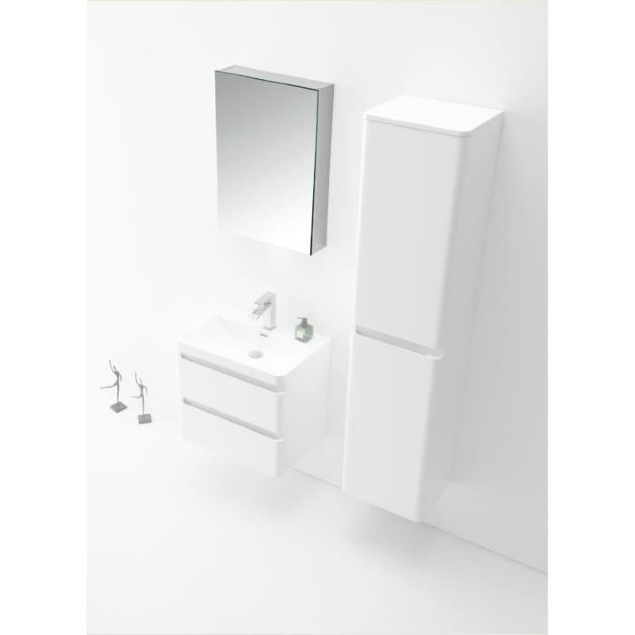 InterougeHome - Armoire Miroir Salle De Bain Lumineux Avec Système  d'Eclairage et Une Prise Secteur Integrée Coloris Blanc – 2 Ha...