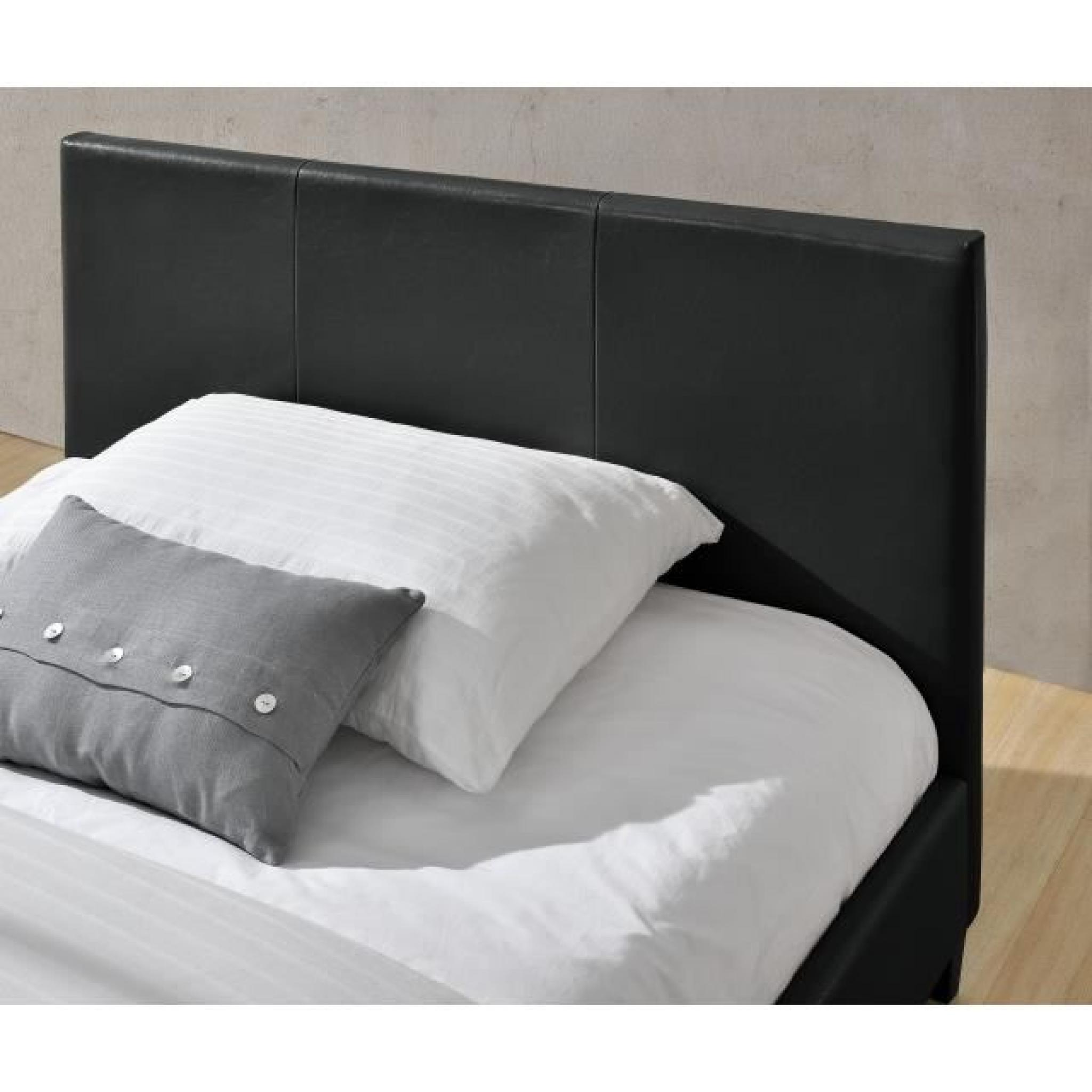 izy lit bycast noir brillant 140x190 achat vente chambre. Black Bedroom Furniture Sets. Home Design Ideas