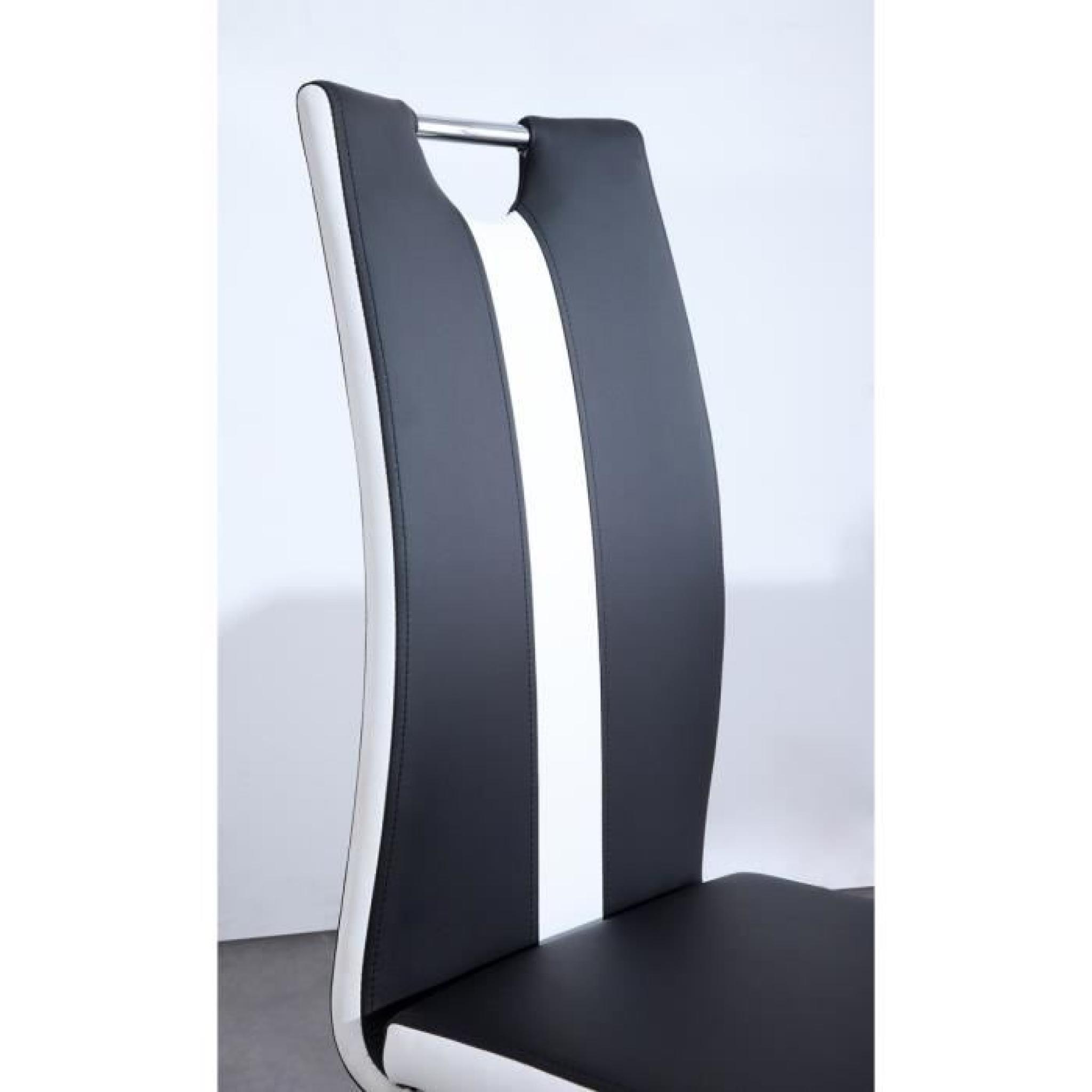 Jade lot de 2 chaises de salle manger noires achat for Lot de 8 chaise de salle a manger