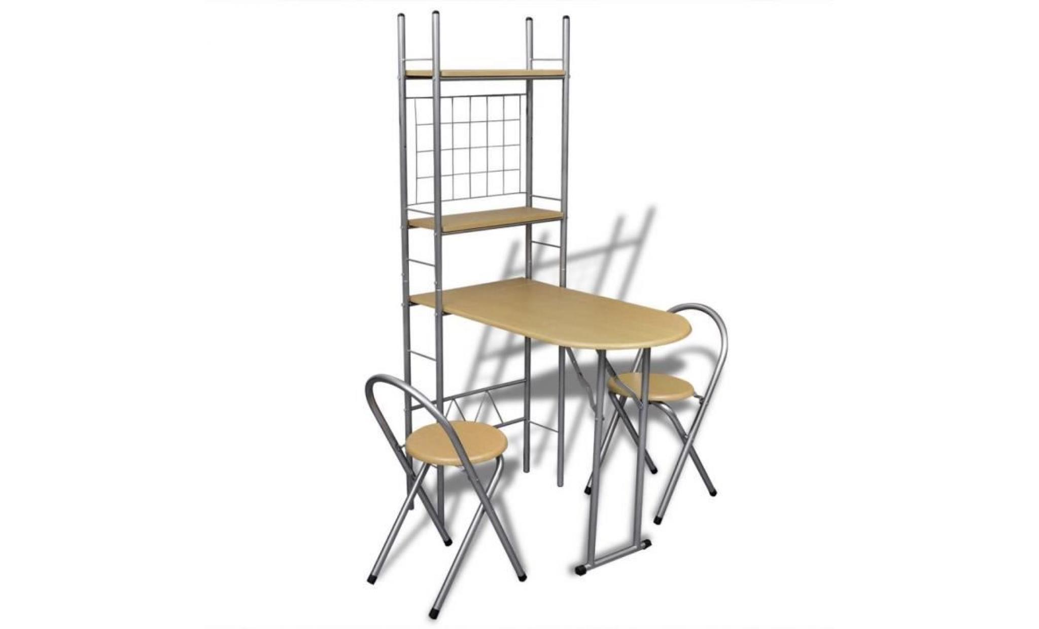 jeu de bar petit d jeuner pliable avec 2 chaises achat