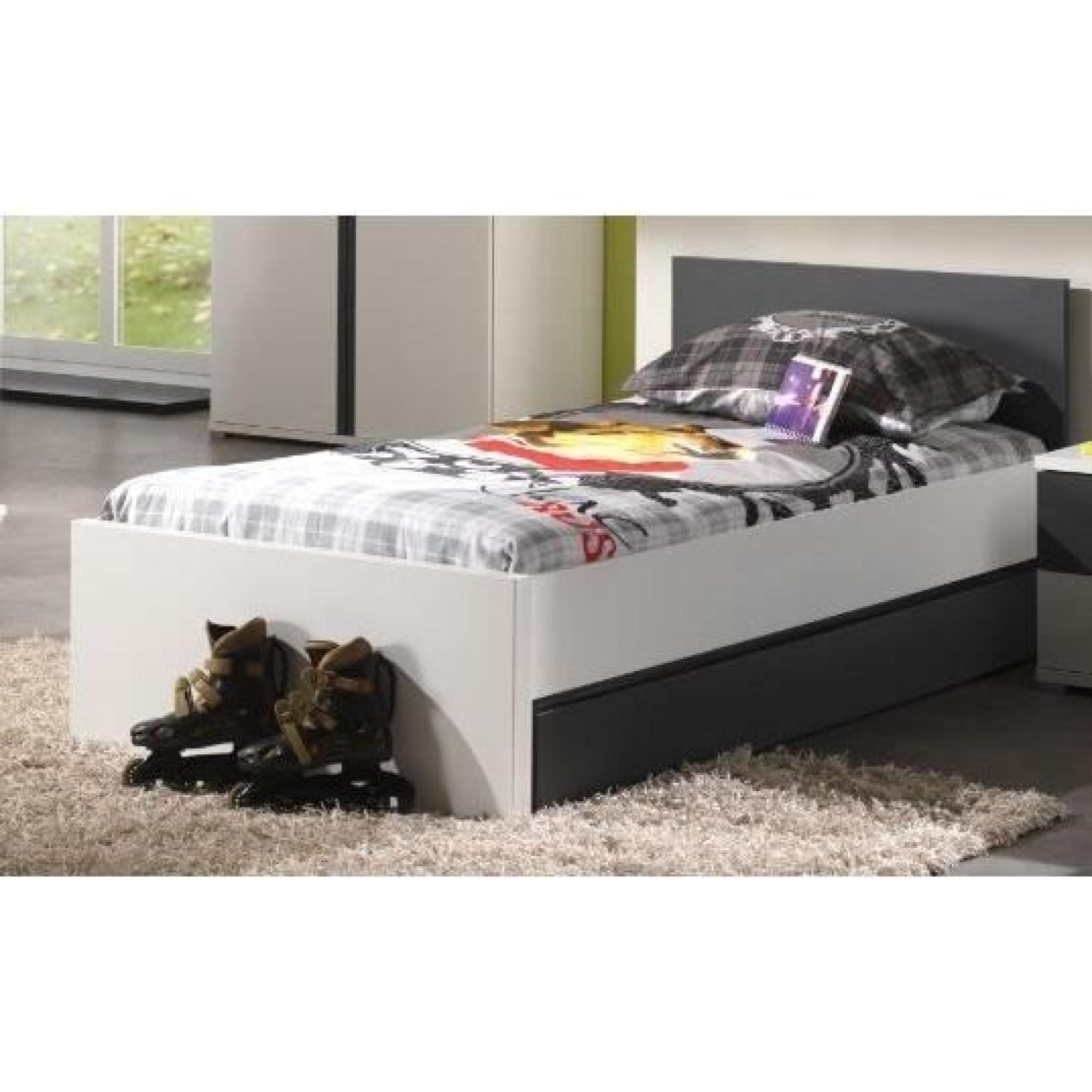 josh ensemble chambre enfant lit tiroir chevet achat vente chambre complete pas cher couleur. Black Bedroom Furniture Sets. Home Design Ideas