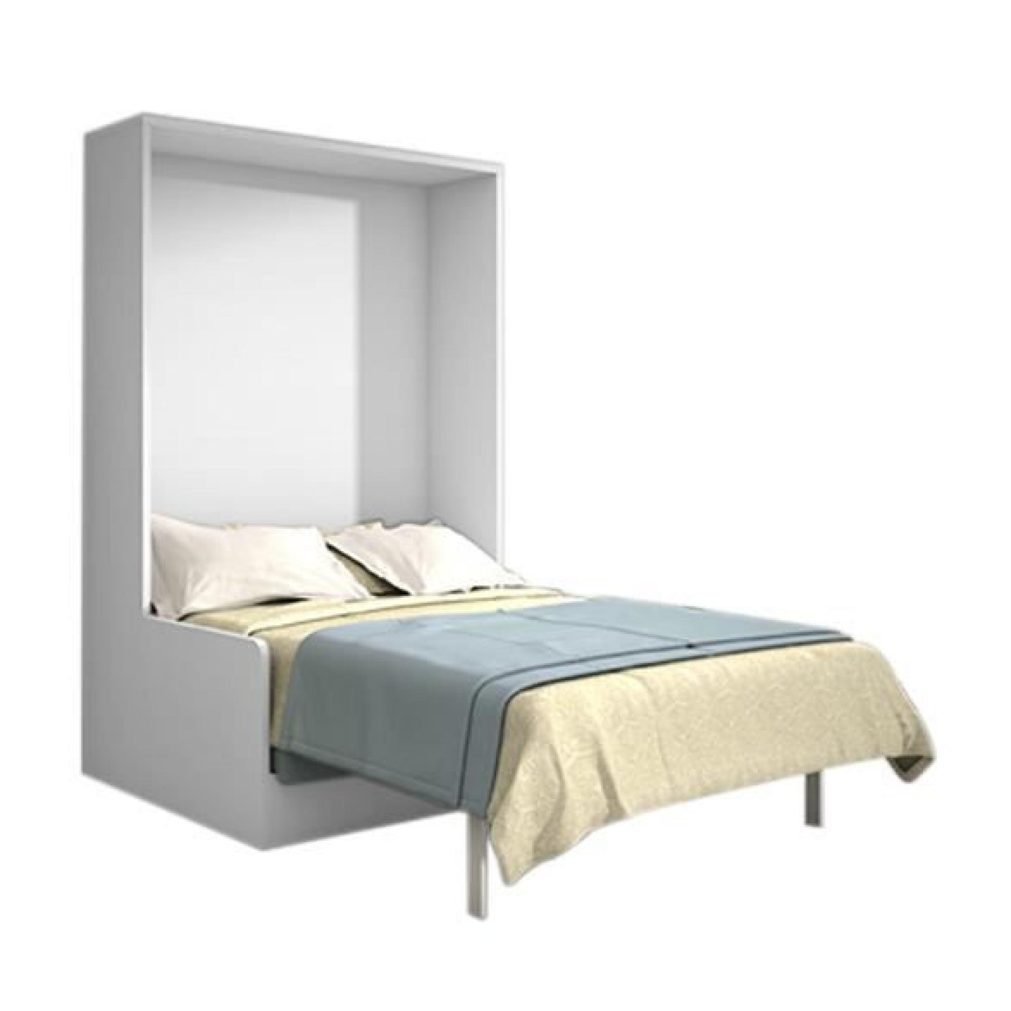 joy armoire lit 140x200 ch ne blanc avec canap achat. Black Bedroom Furniture Sets. Home Design Ideas