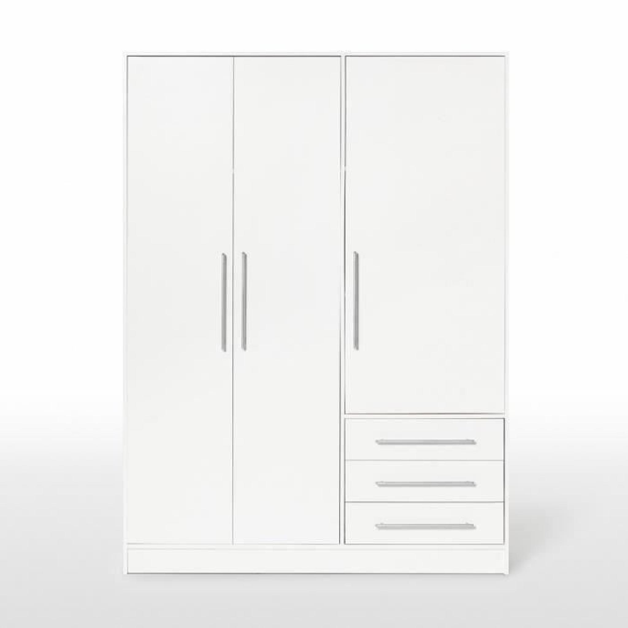 jupiter armoire 145 cm blanche achat vente armoire de. Black Bedroom Furniture Sets. Home Design Ideas
