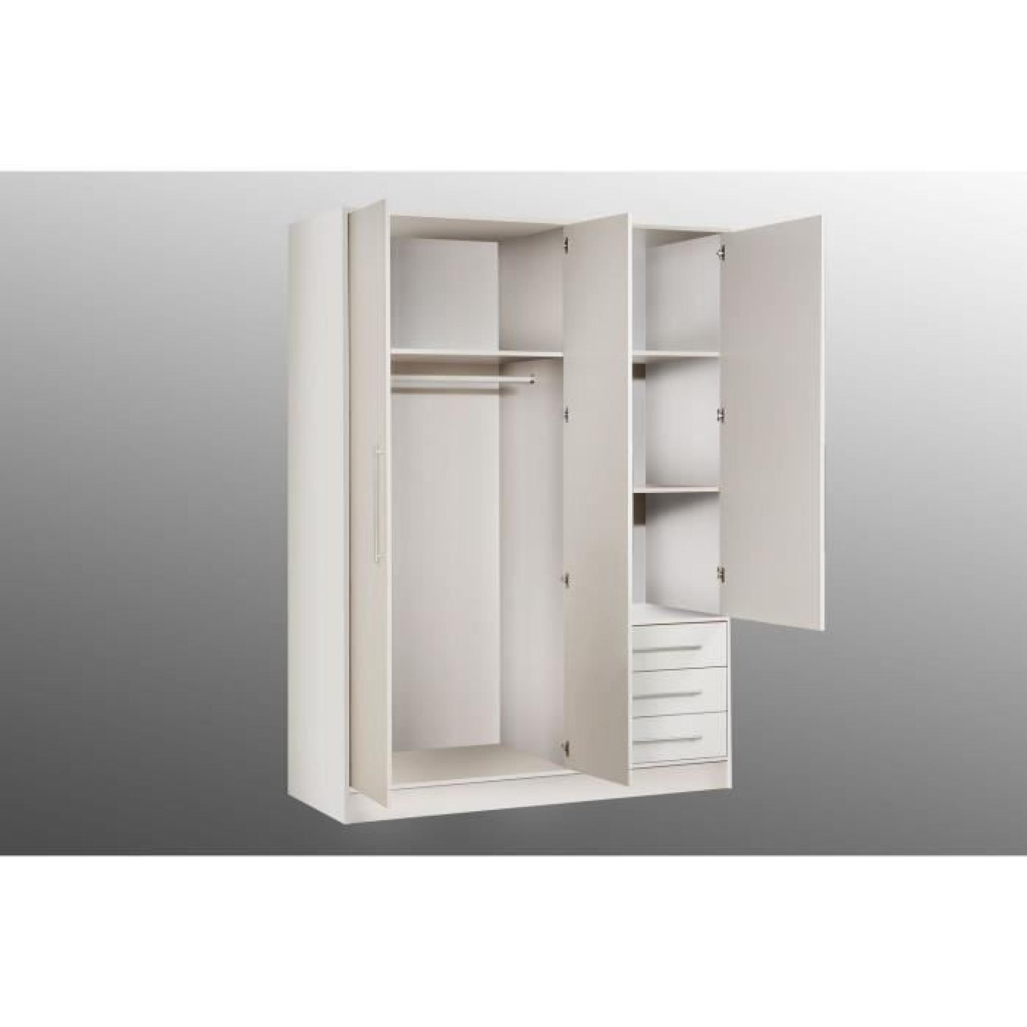jupiter armoire 145 cm noire achat vente armoire de chambre pas cher couleur et. Black Bedroom Furniture Sets. Home Design Ideas