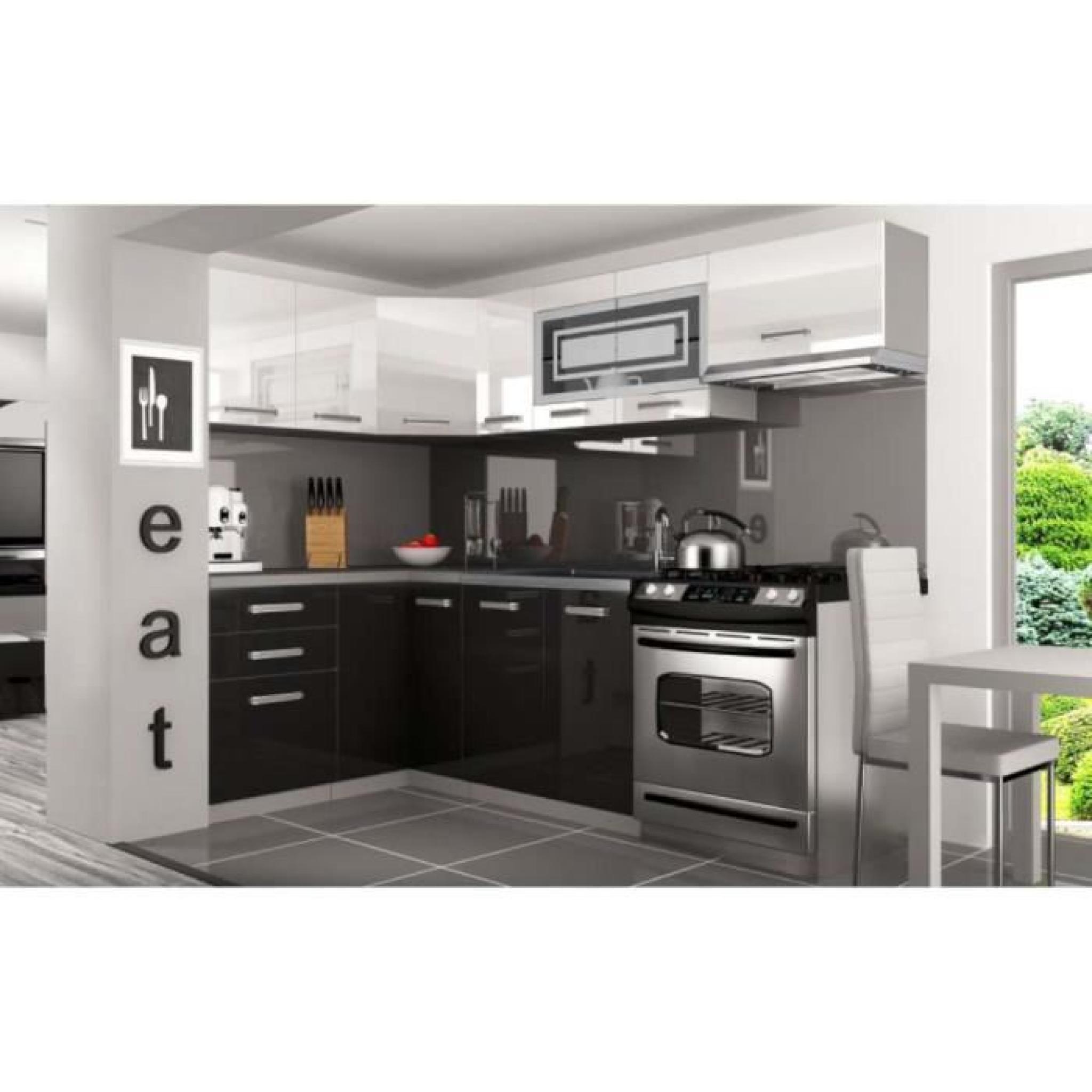 Justhome lidja p pro l cuisine quip e compl te 130x230 cm for Cuisine complete equipee