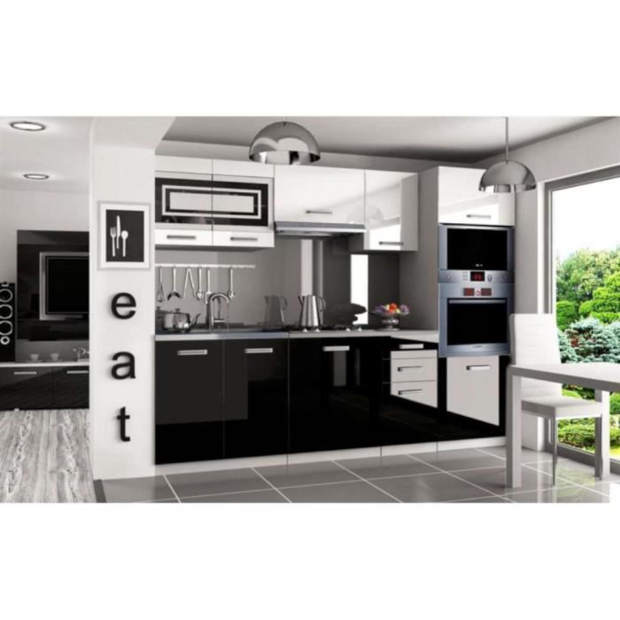 cuisine quipe cdiscount finest meubles de cuisine cuisiniste u cuisine quipe meubles cuisines. Black Bedroom Furniture Sets. Home Design Ideas