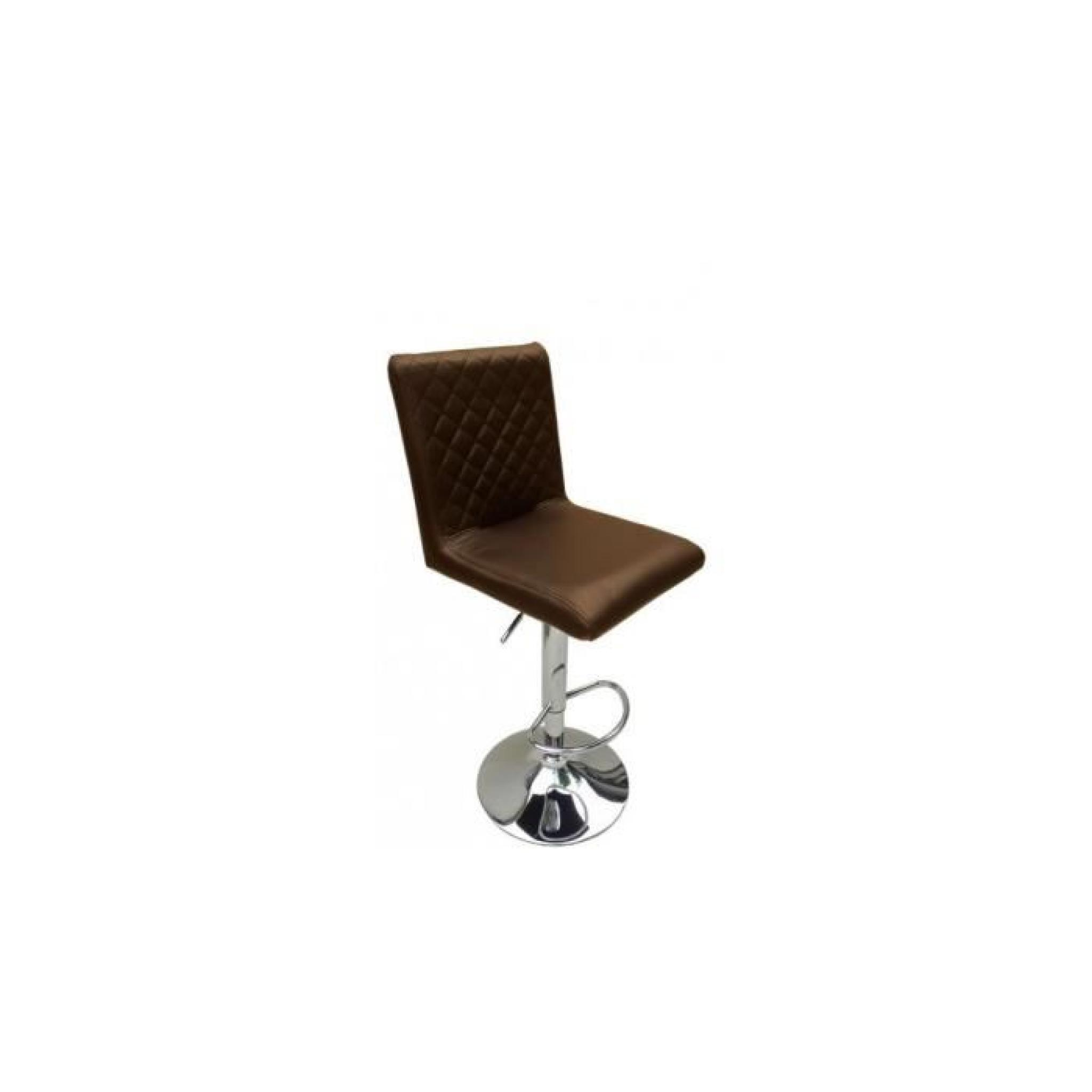 Justhome tabouret de bar hc 1145 couleur chocolat - Tabouret de bar couleur ...