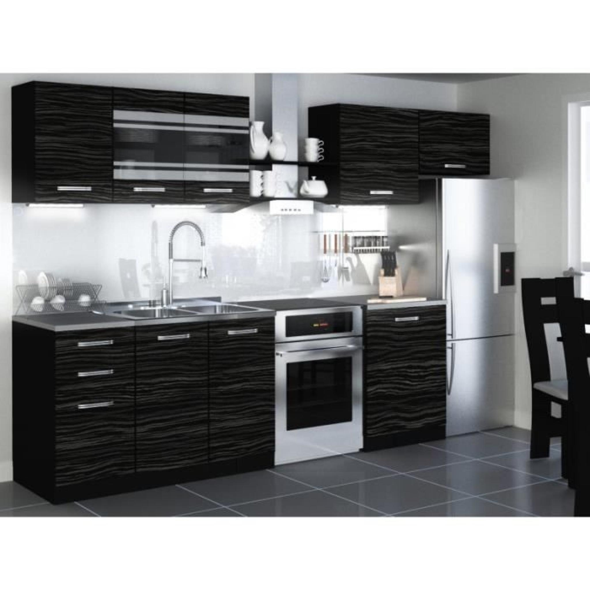 justhome torino 1 led cuisine quip e compl te 300 cm mod le de poign e 2 achat vente cuisine. Black Bedroom Furniture Sets. Home Design Ideas