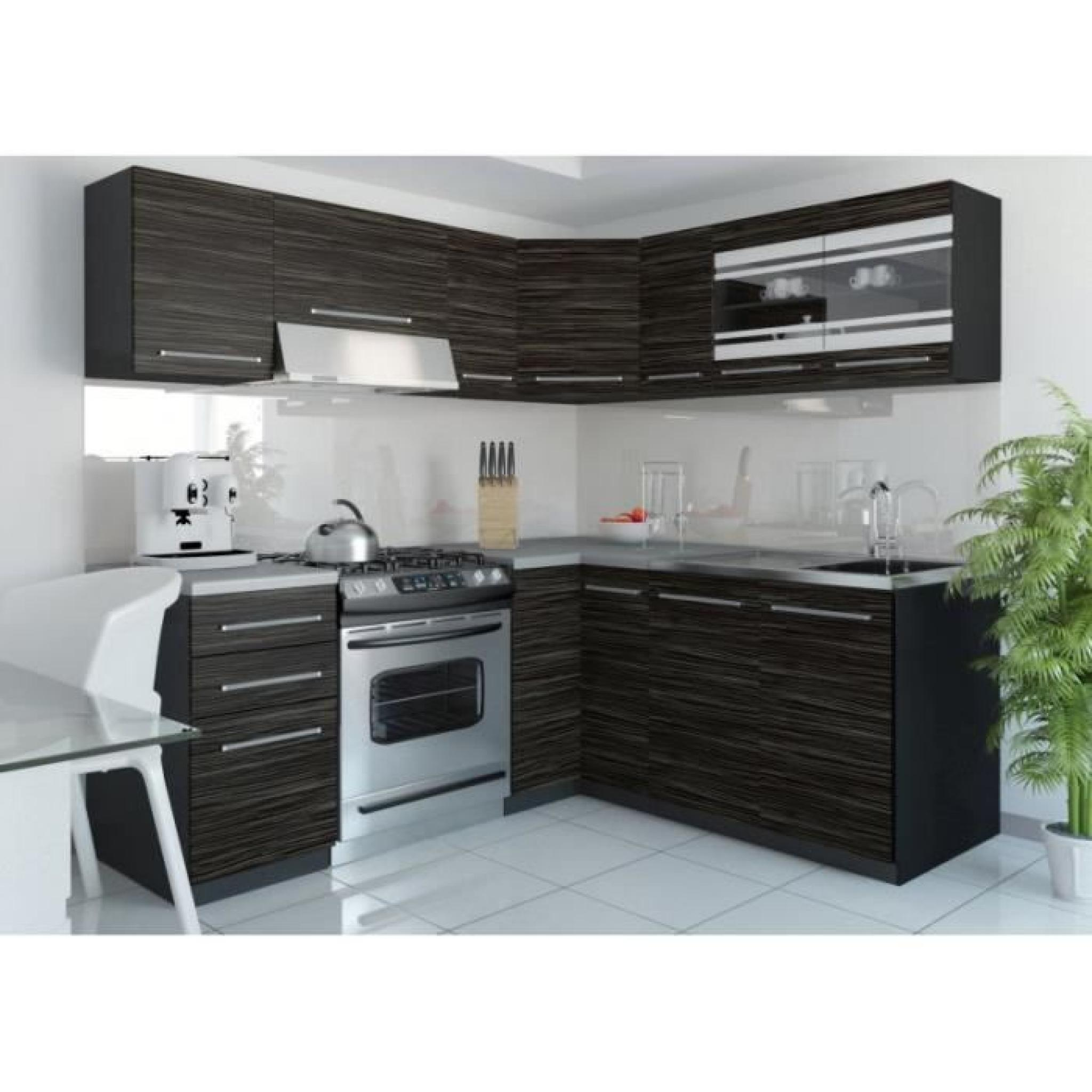 justhome torino 4 l cuisine quip e compl te 190x170 cm mod le de poign e 1 achat vente. Black Bedroom Furniture Sets. Home Design Ideas