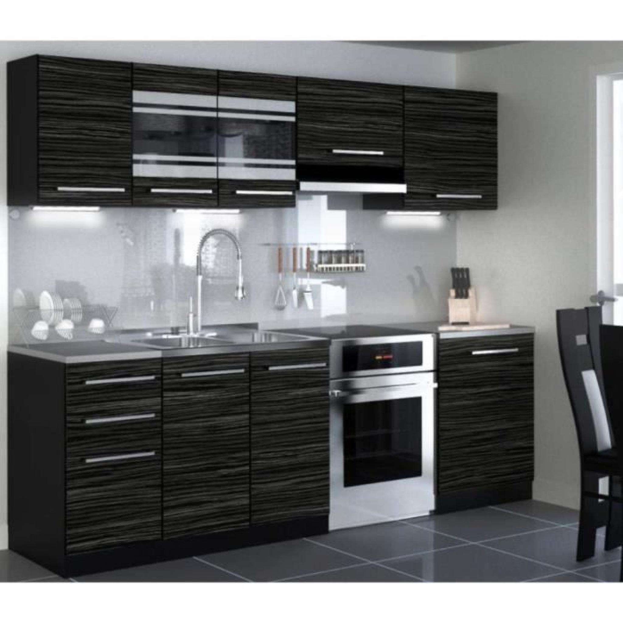 justhome torino led cuisine quip e compl te 240 cm mod le de poign e 1 achat vente cuisine. Black Bedroom Furniture Sets. Home Design Ideas