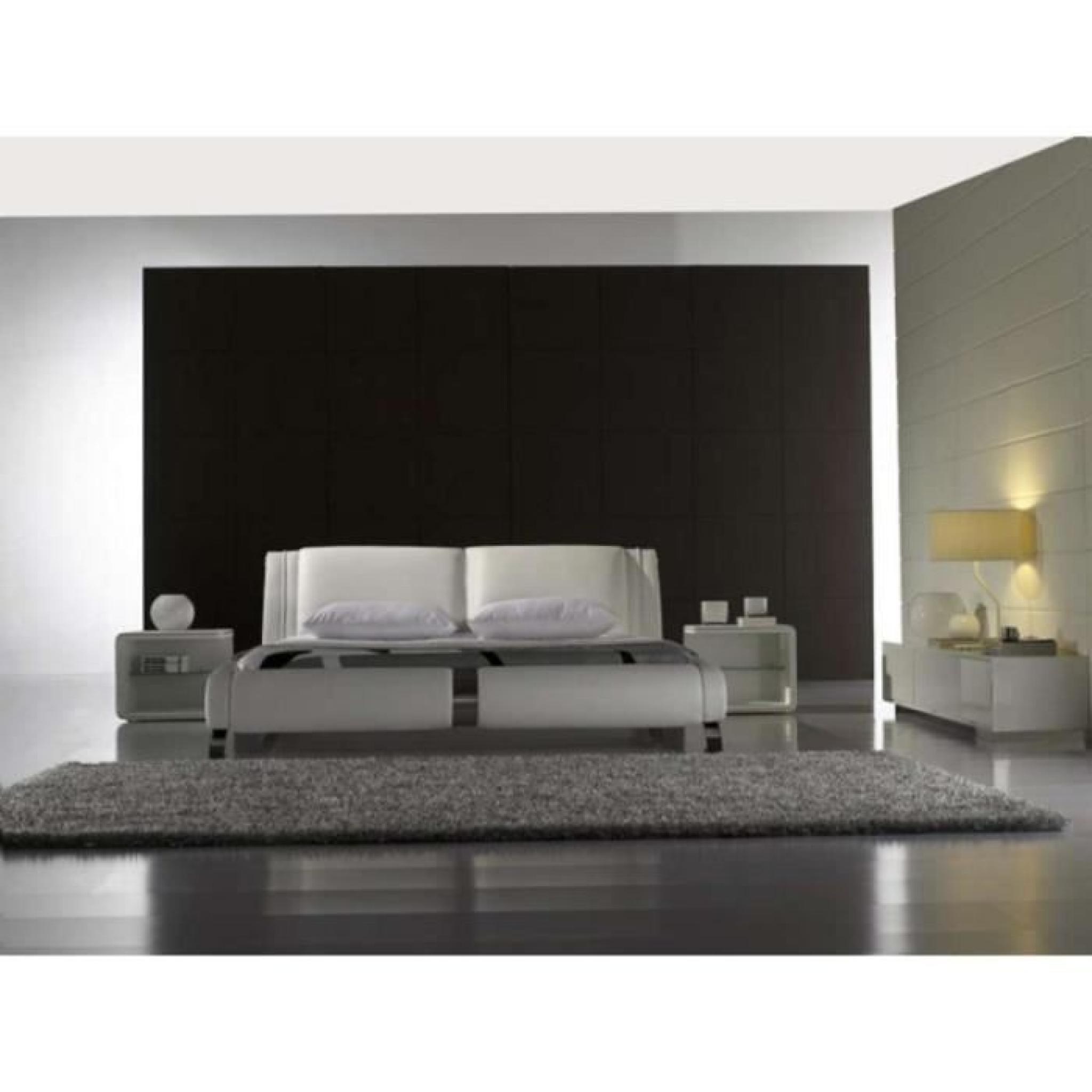 justhome ventura beige lit rembourr en cuir cologique taille 200 x 200 cm achat vente lit. Black Bedroom Furniture Sets. Home Design Ideas
