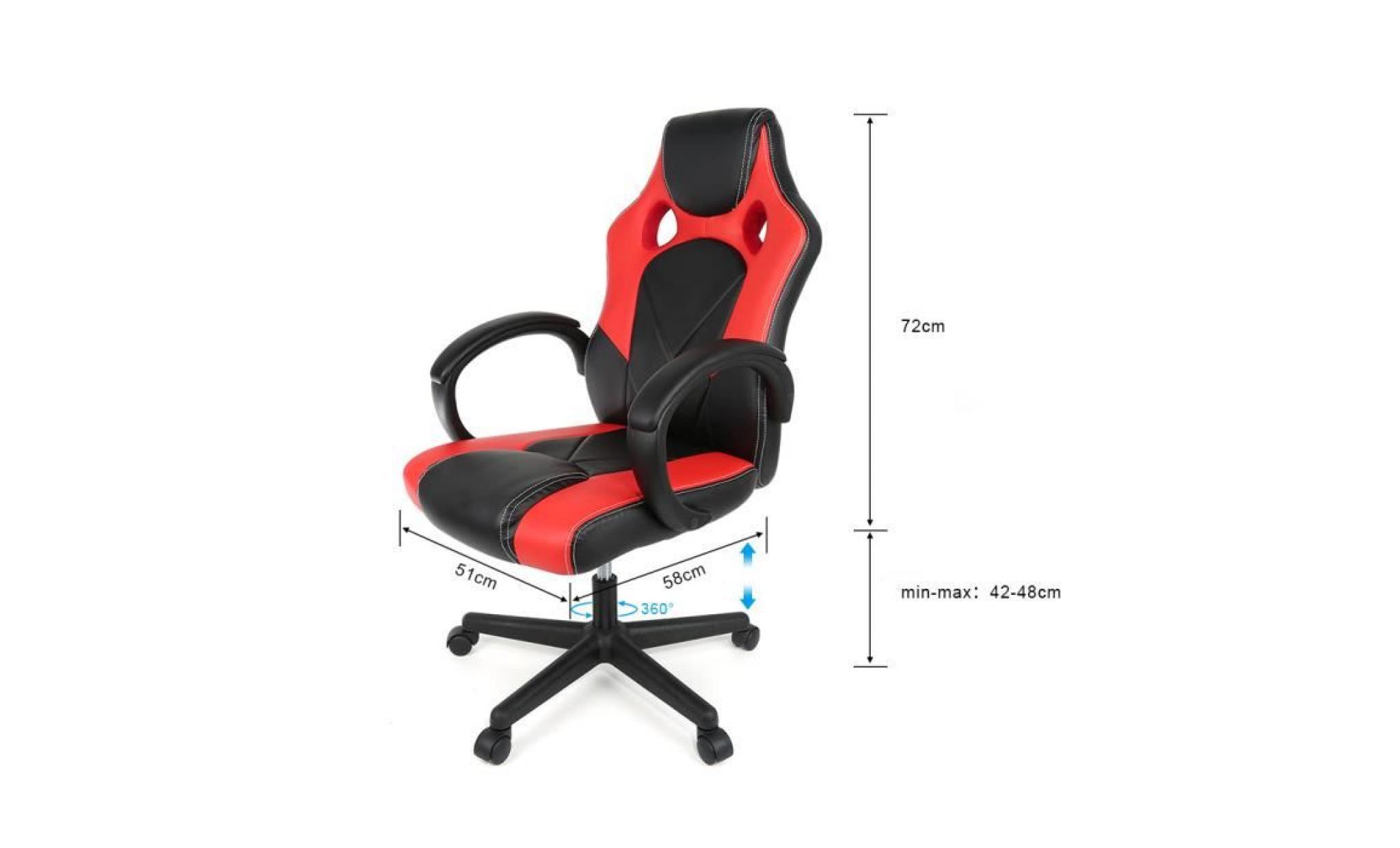 Racing Chaise de Gamer Ergonomique Fauteuil de Bureau Siège