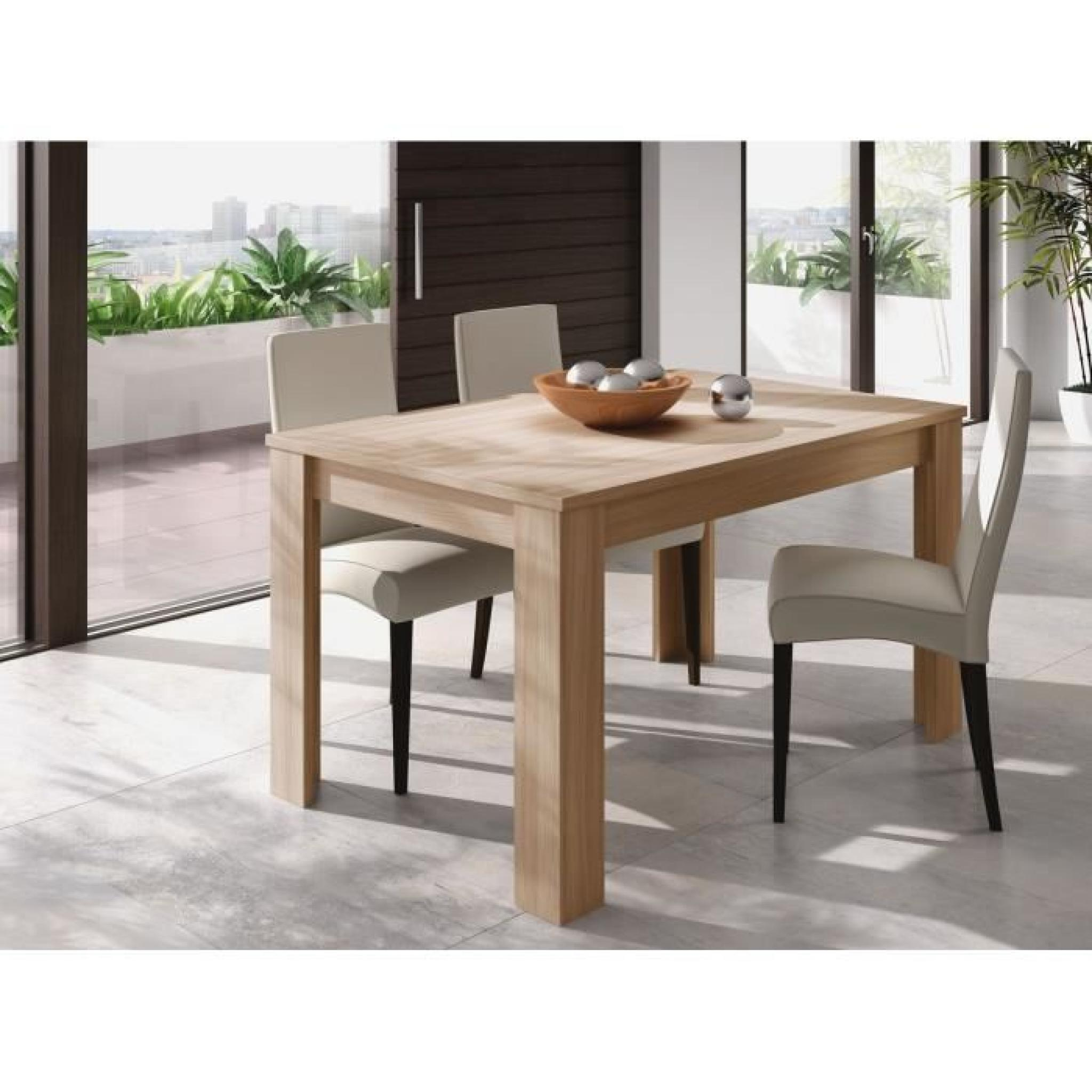 Best table en chene clair contemporary awesome interior for Table a manger 120 cm extensible