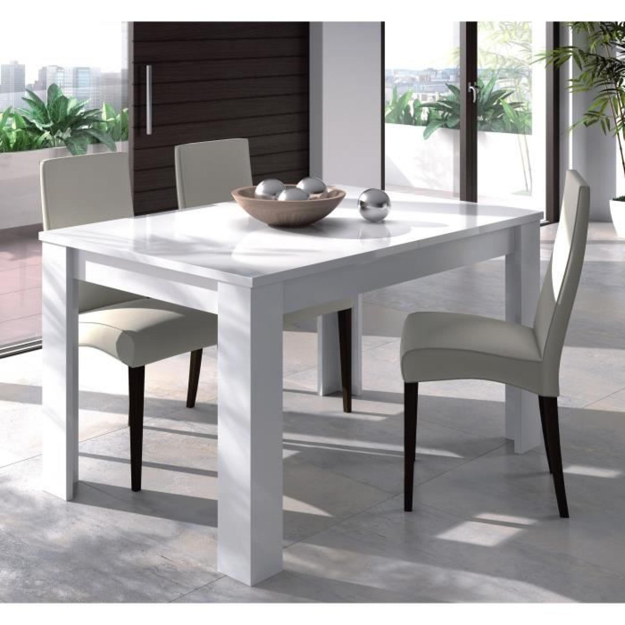 140190cm Brillant Blanc Extensible Kendra Table pGqUSVMz