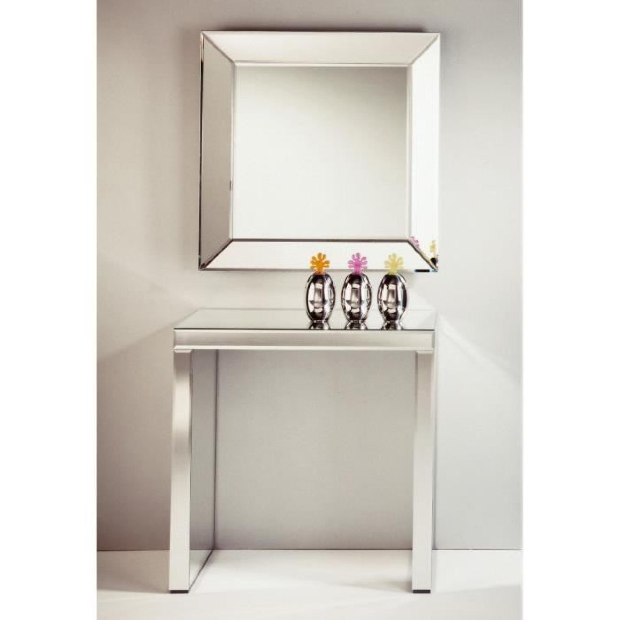 keops table console en verre miroir petit mod le achat. Black Bedroom Furniture Sets. Home Design Ideas