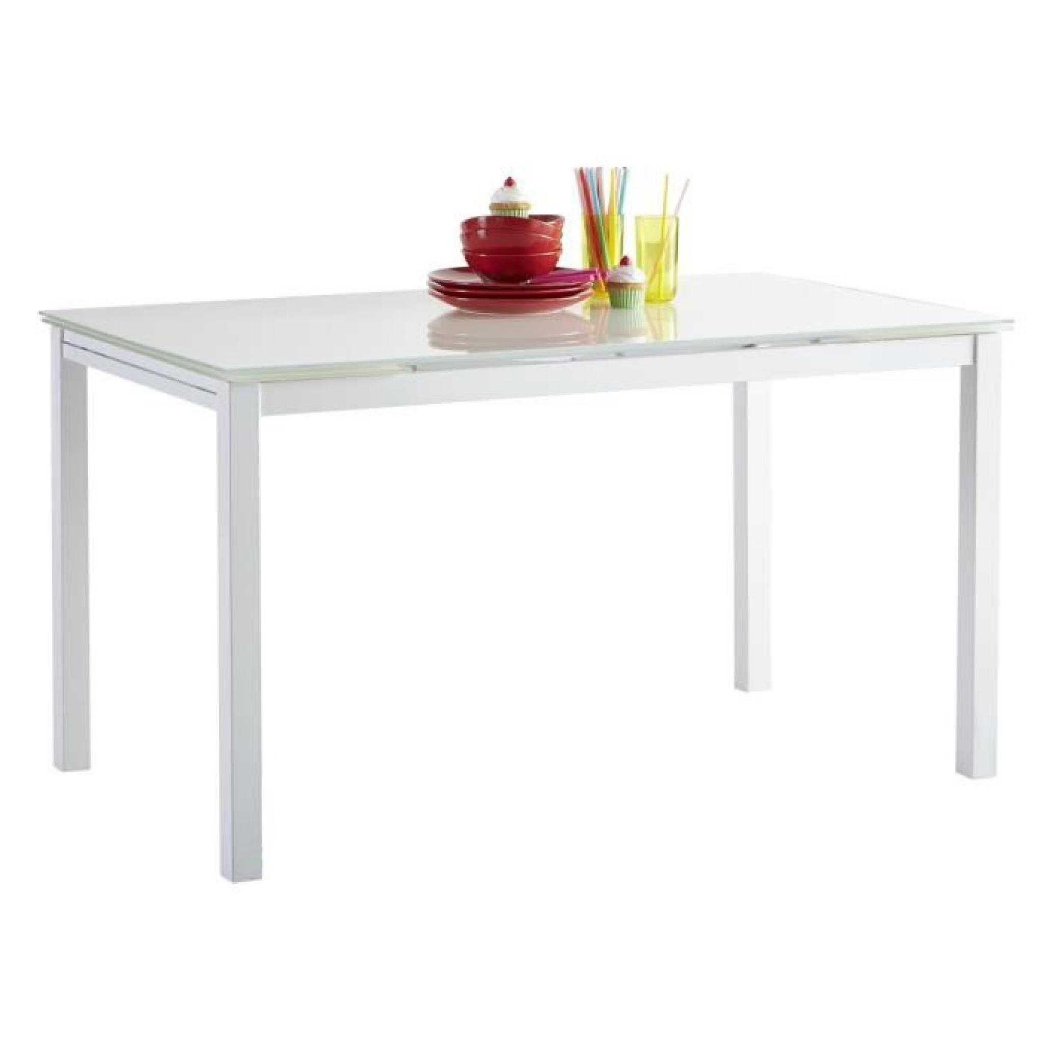 Extensible Manger Blanc Kiara 110170cm Table À 1KTlcJ3F