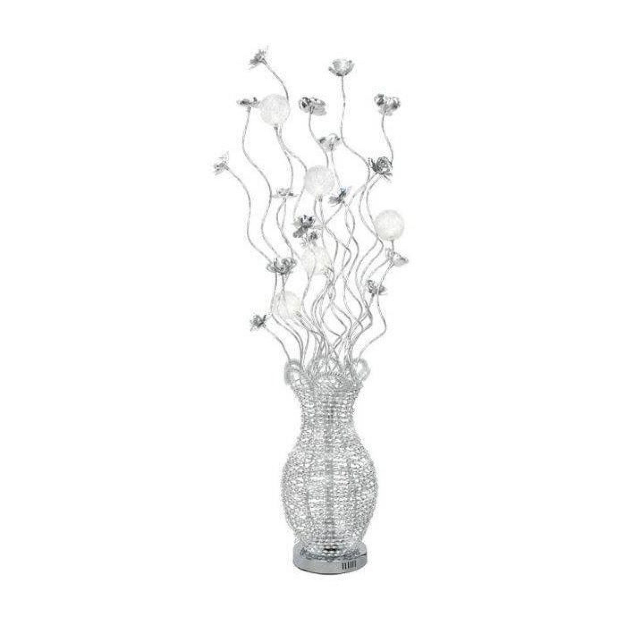 lampadaire aluminium chrome bella led 5x 20w boutica design achat vente lampadaire pas cher. Black Bedroom Furniture Sets. Home Design Ideas
