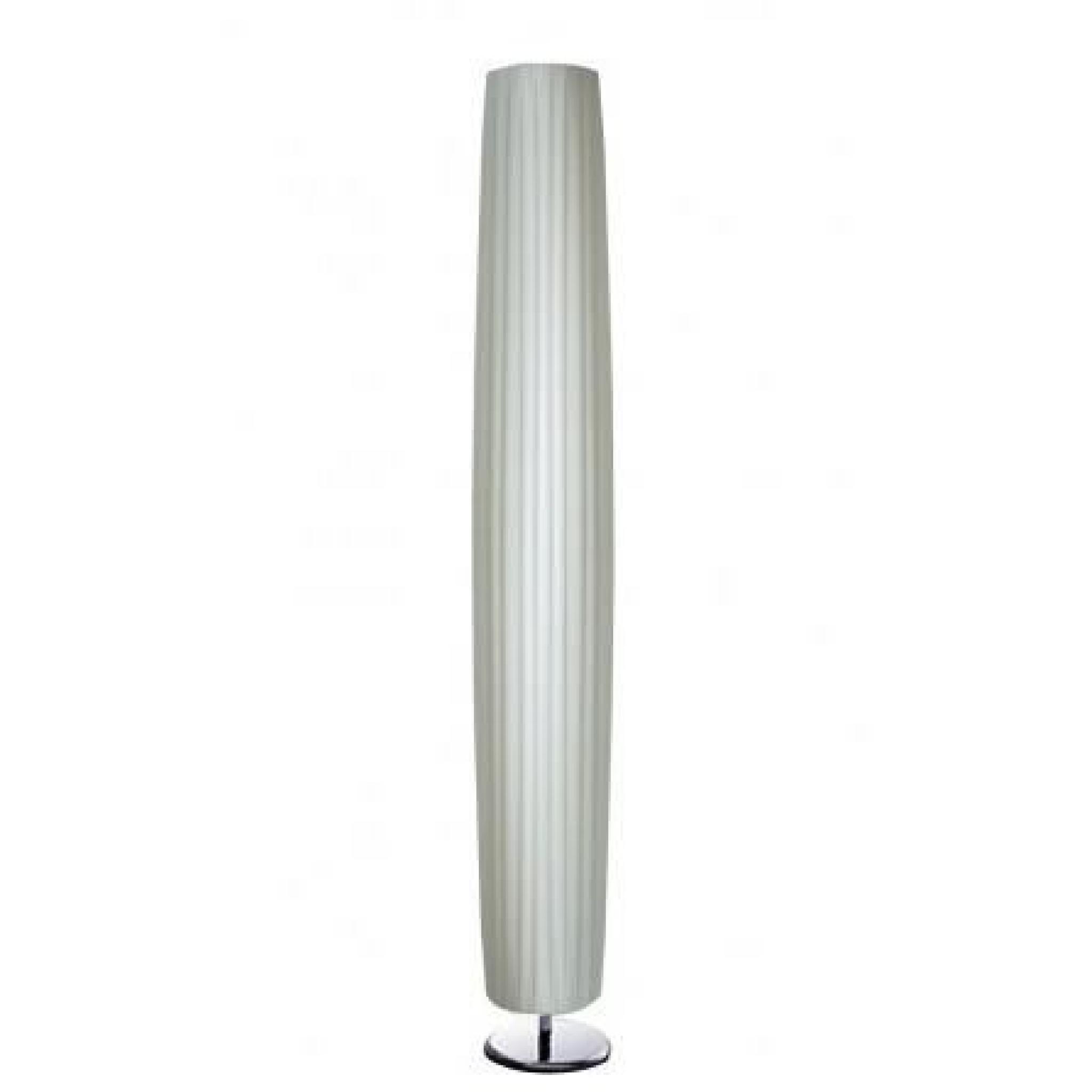 Lampadaire Blanc En Tissu Et Metal Chrome Hau Achat Vente